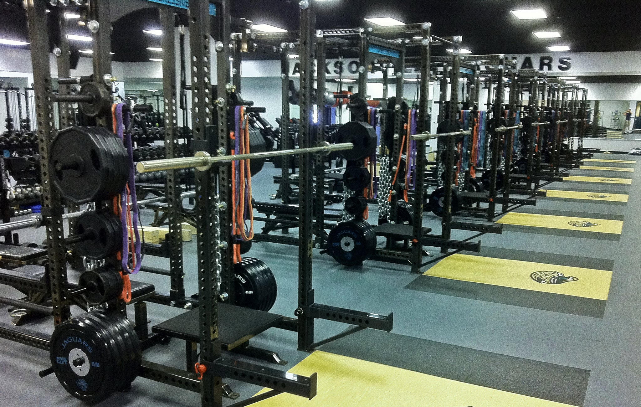 Jacksonville Jaguars weight rooms