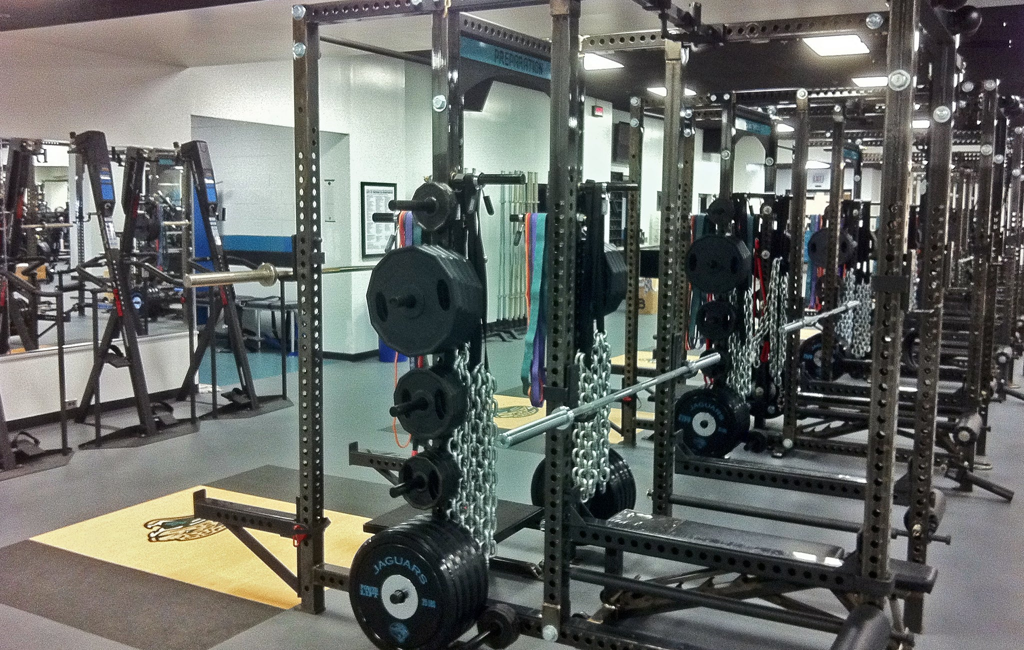 Professional football strength training facilities