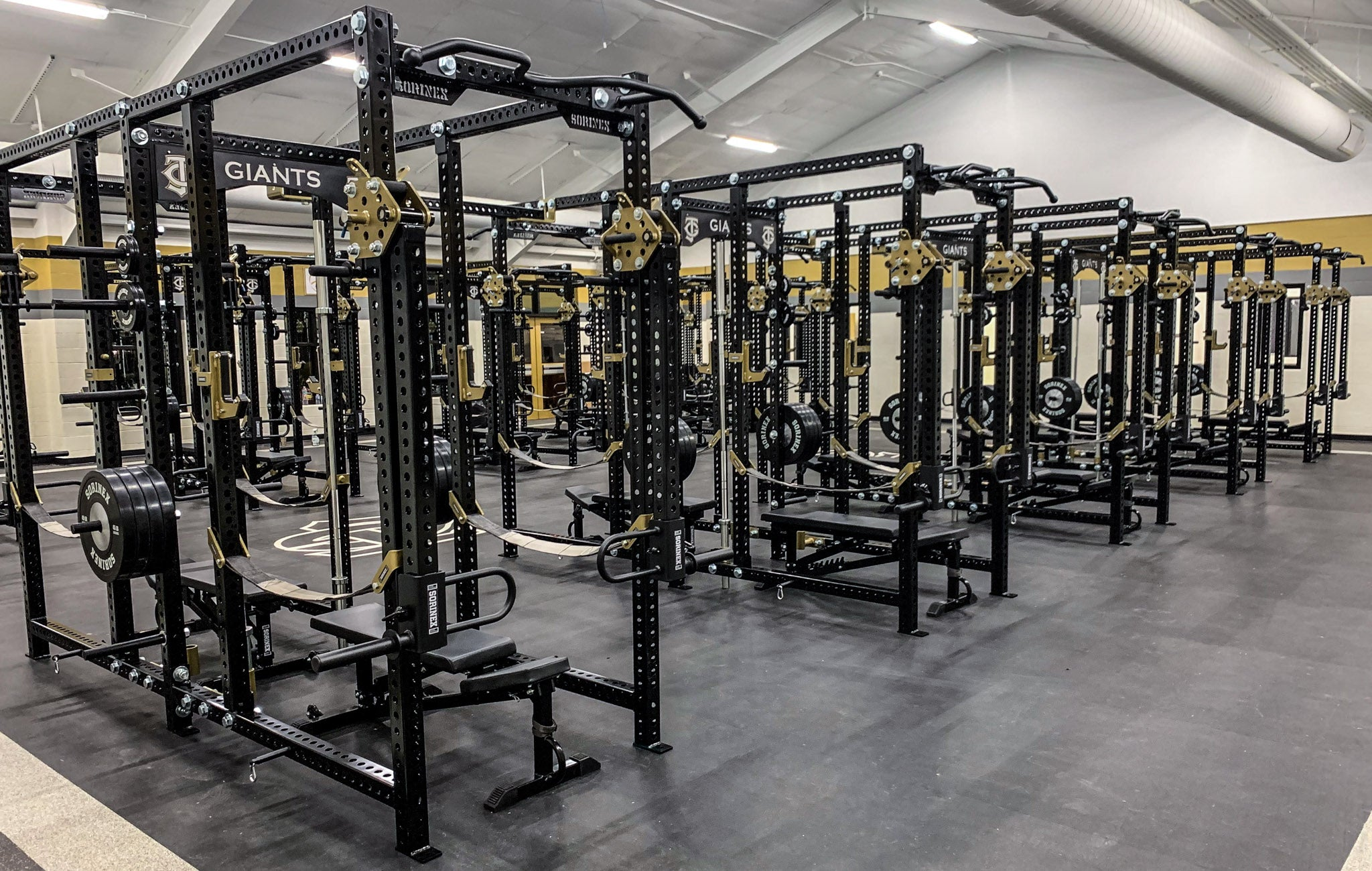 Jena High School weight room
