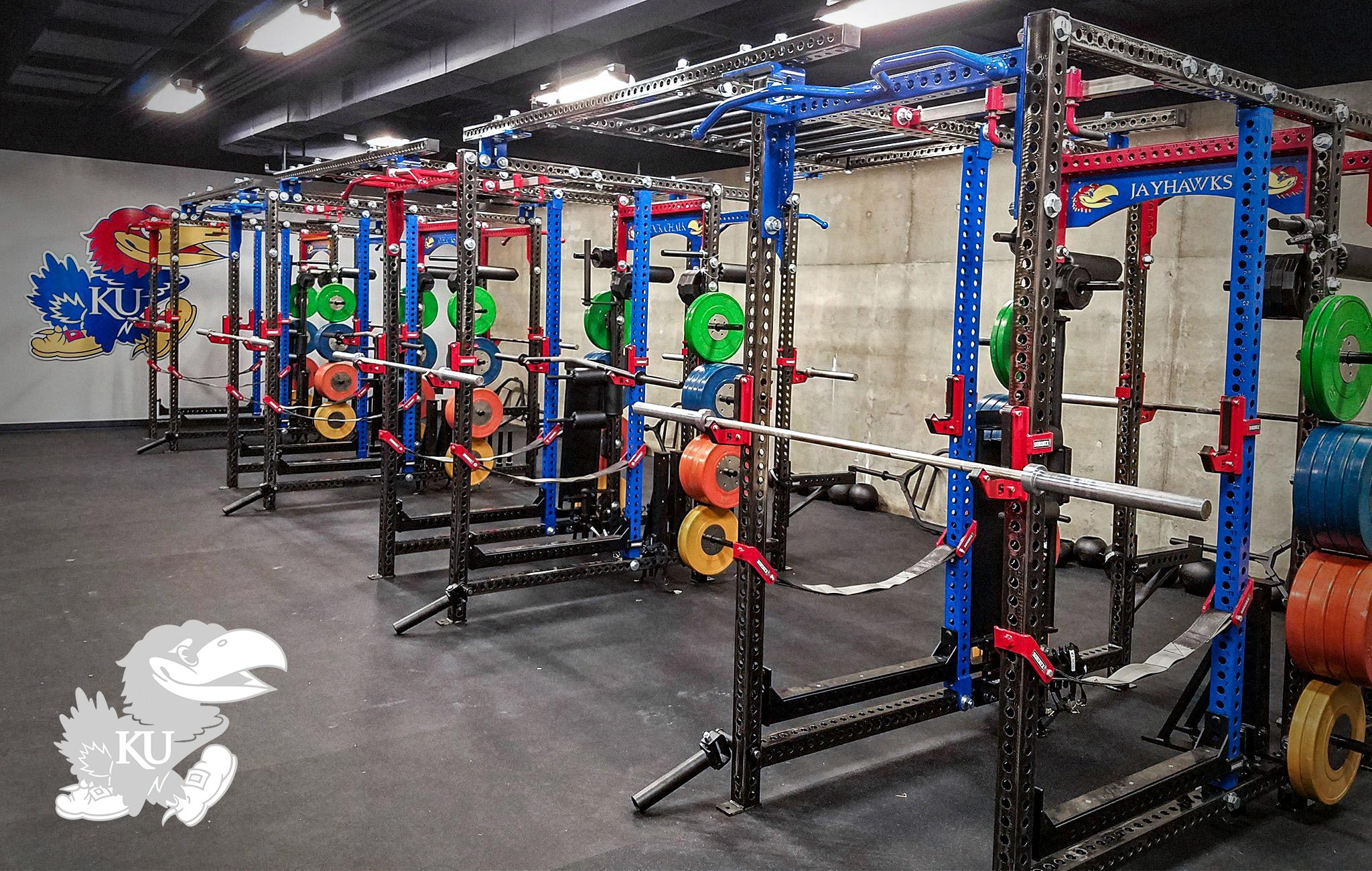 Kansas University Sorinex strength and conditioning facility