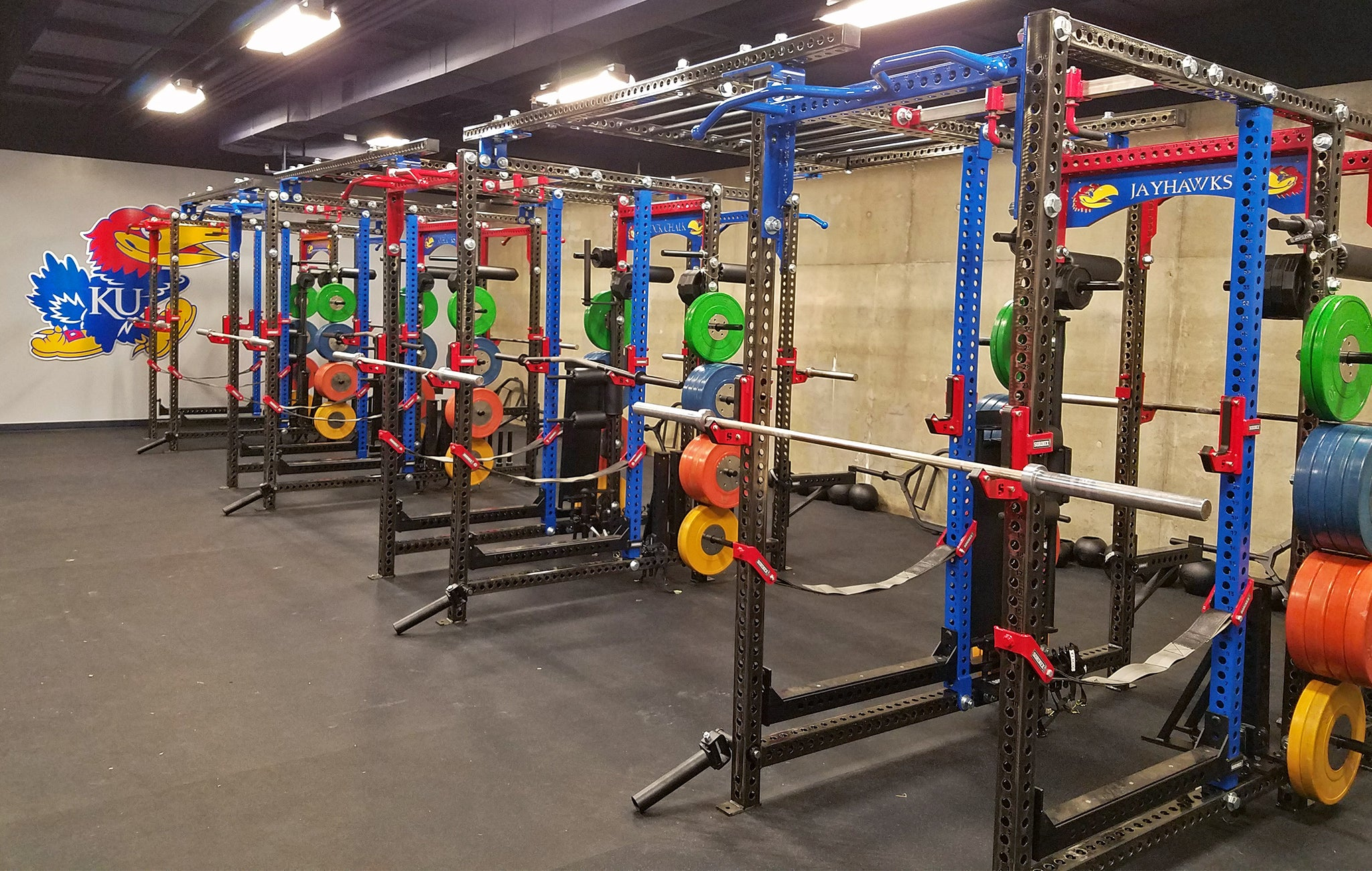 Kansas University Track and Field weight room