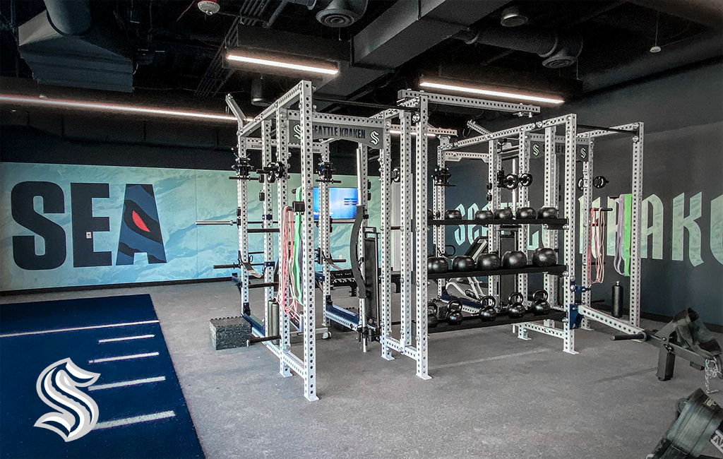 Seattle Kraken Sorinex strength and conditioning facility