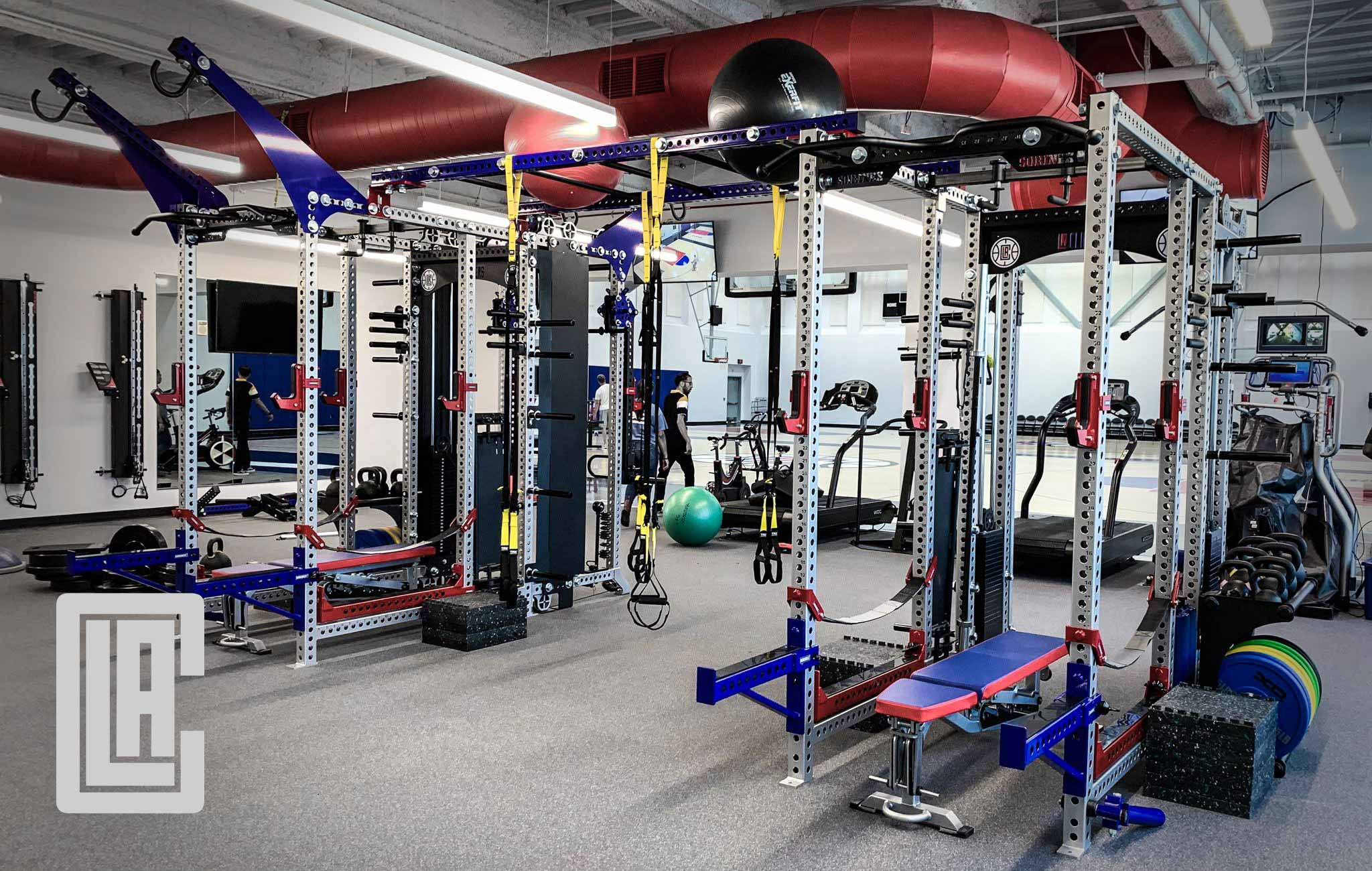 LA Clippers Sorinex strength and conditioning facility