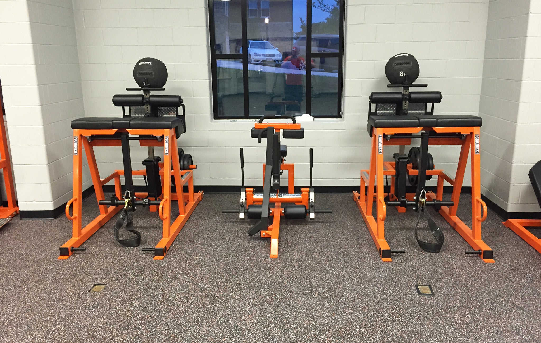 High school strength training equipment