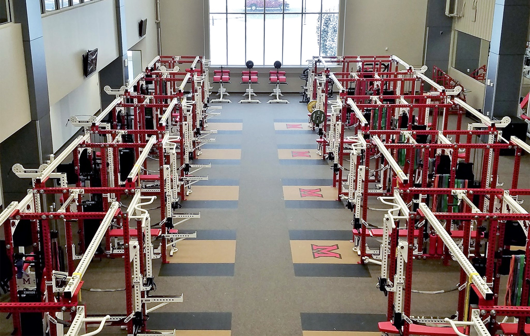 Ohio Miami University Football Weight Room
