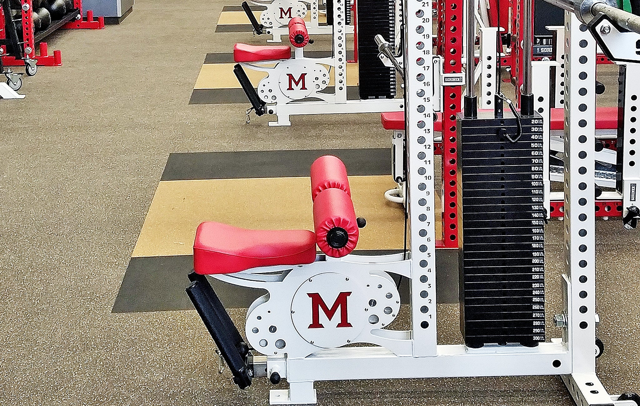 Ohio Miami University Football strength training
