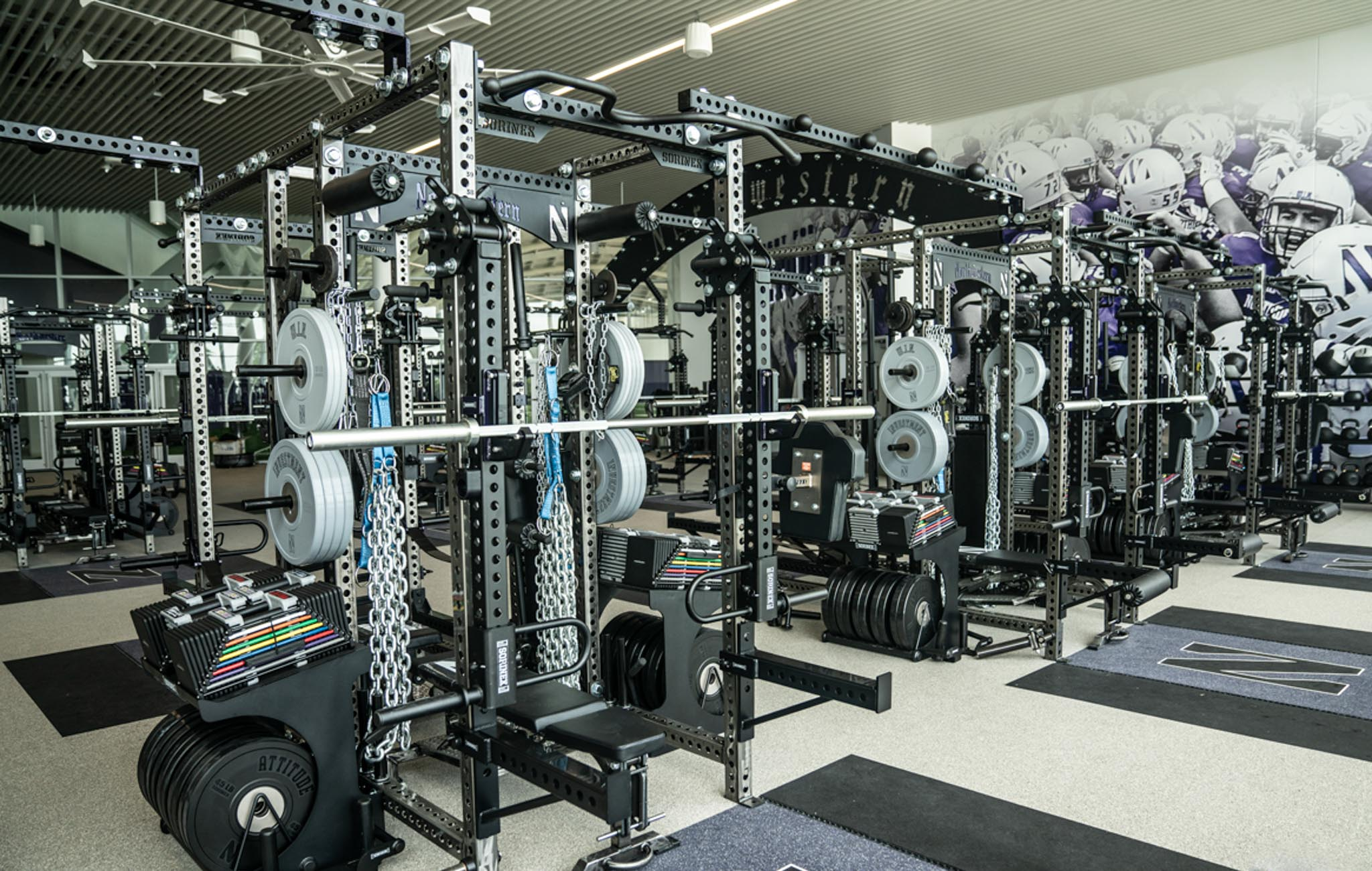 Northwestern University Football Weight Room