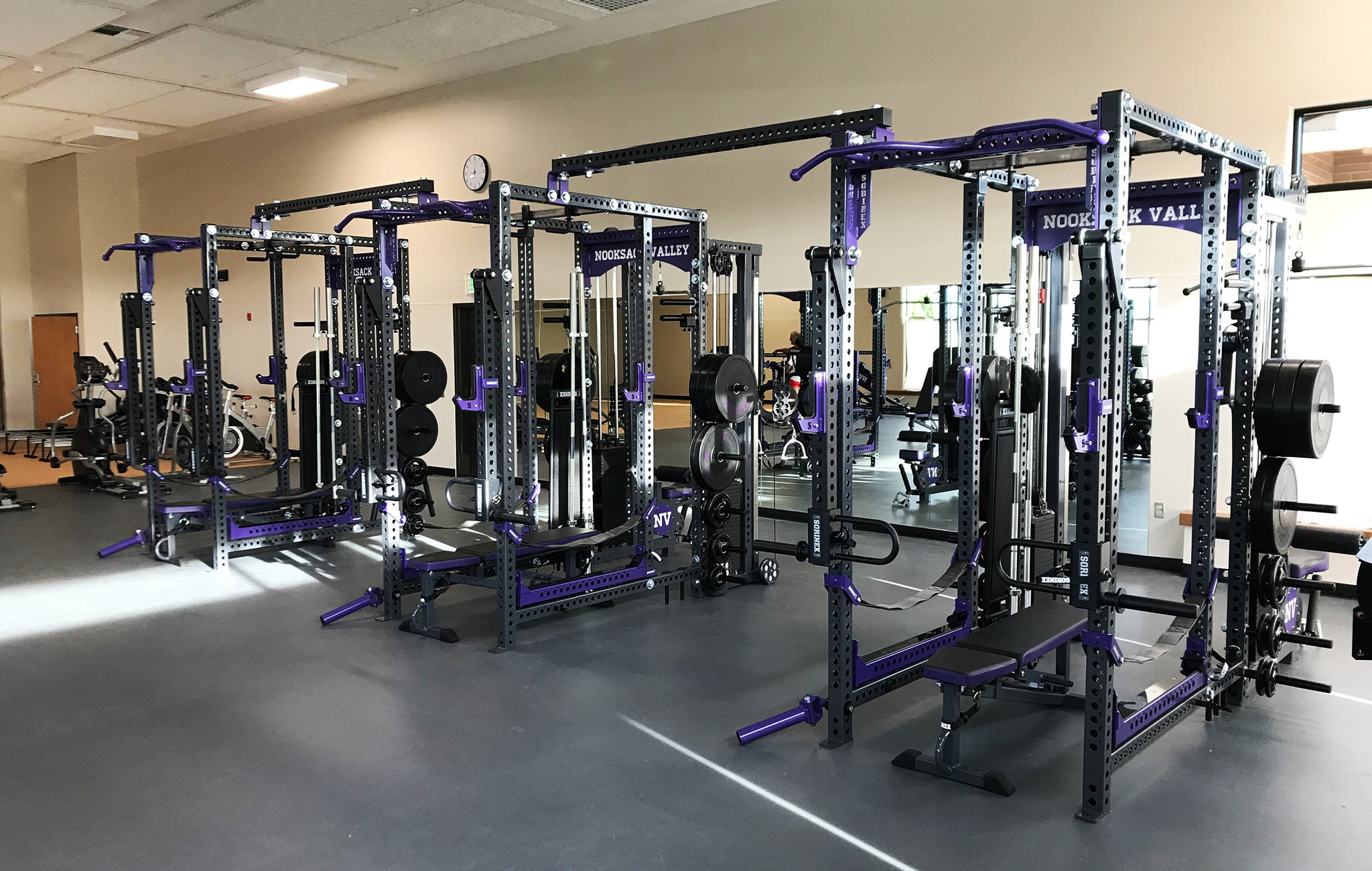 Nooksack Valley High School weight room