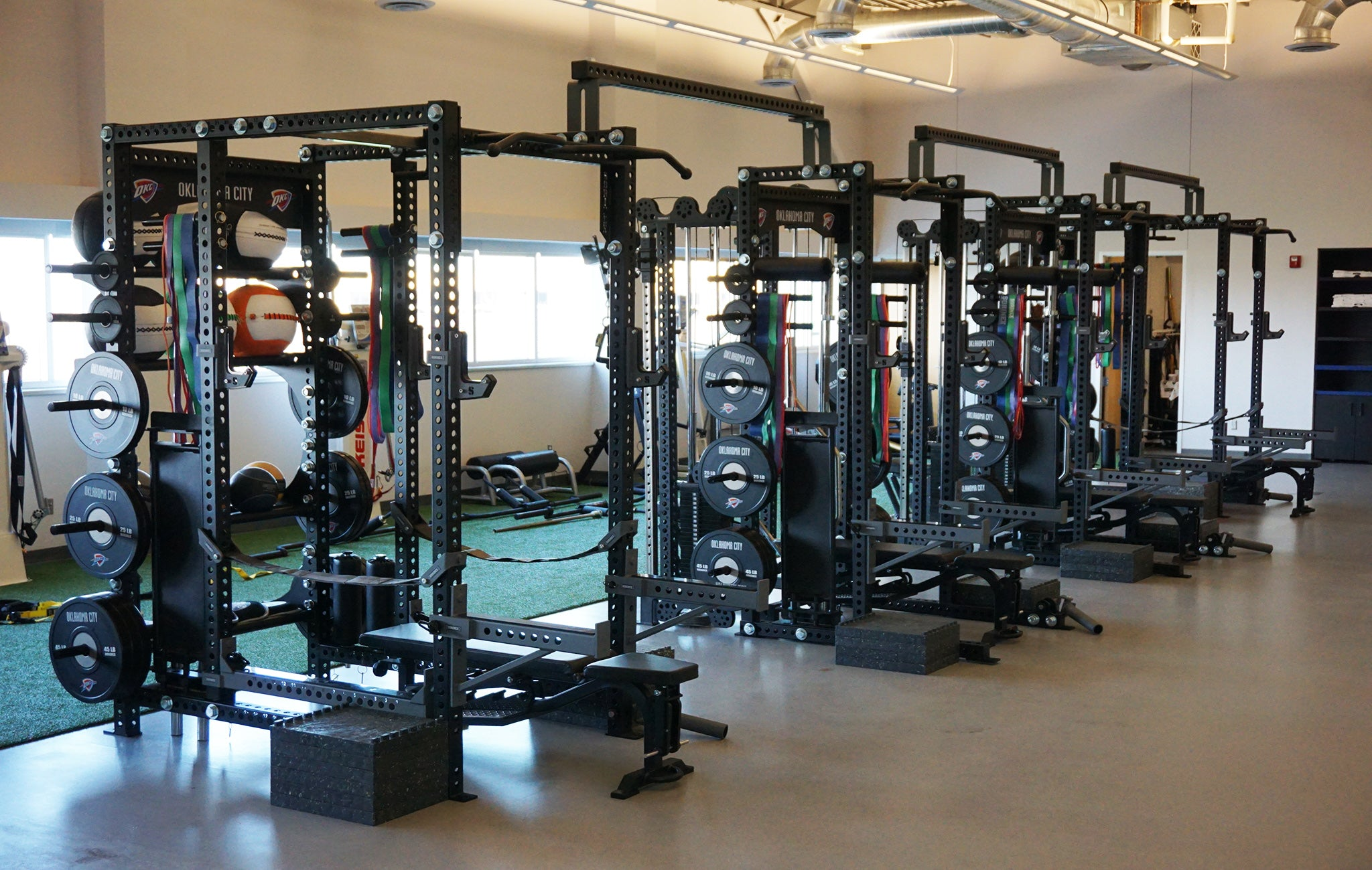 Oklahoma City Thunder Weight Room