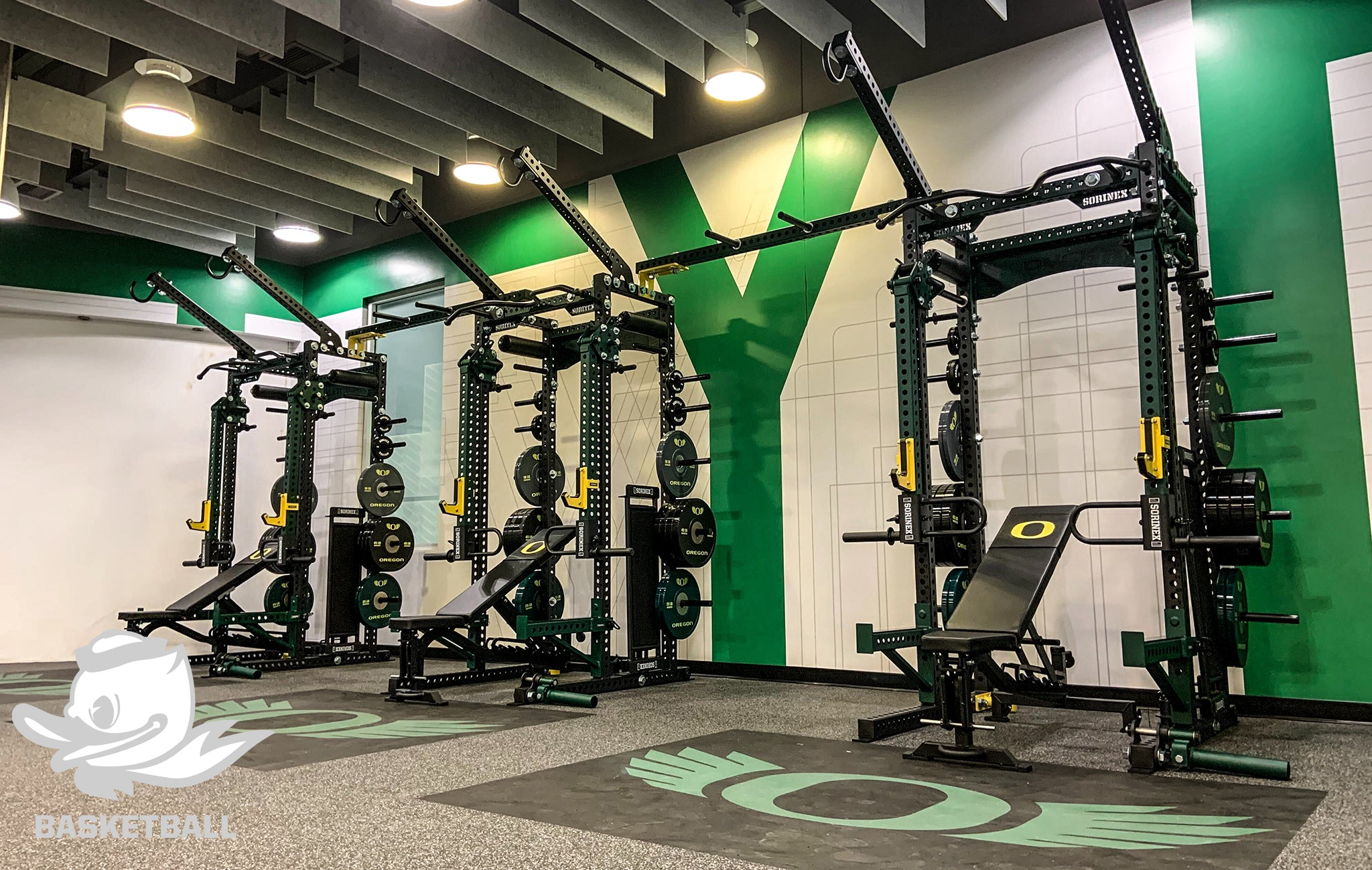 University of Oregon Sorinex strength and conditioning facility