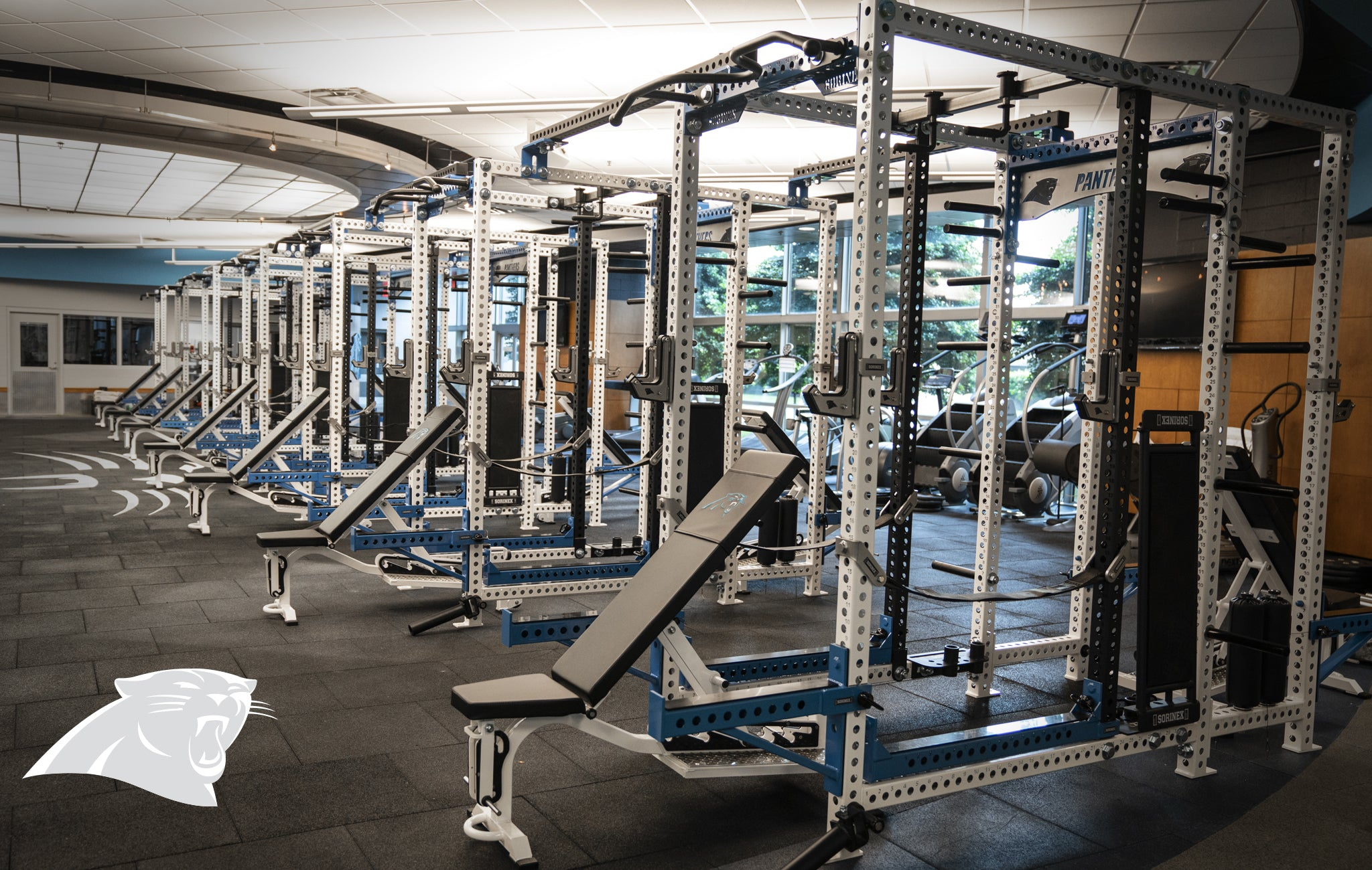 Carolina Panthers Sorinex strength and conditioning facility