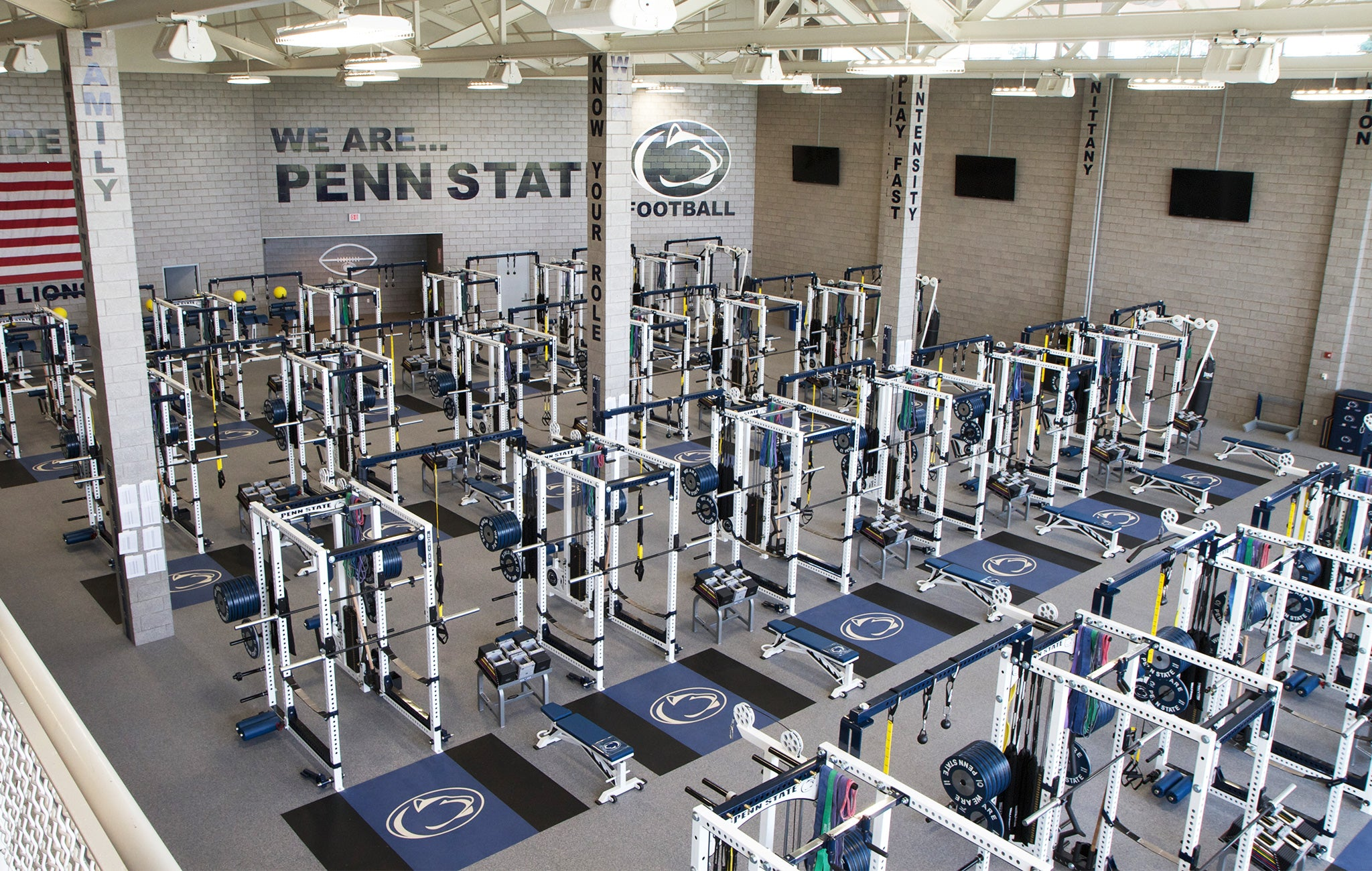 Penn State Football Weight Room