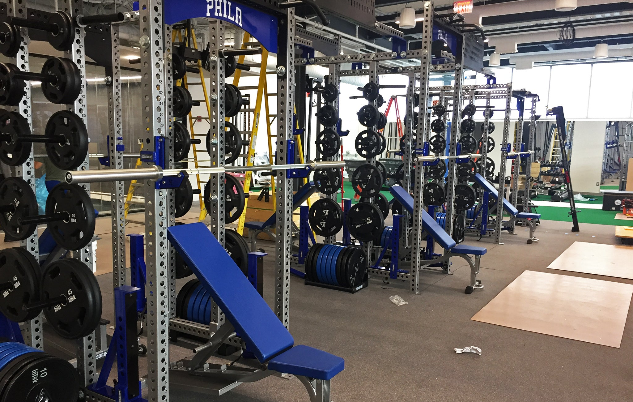 Philadelphia 76ers Weight Room