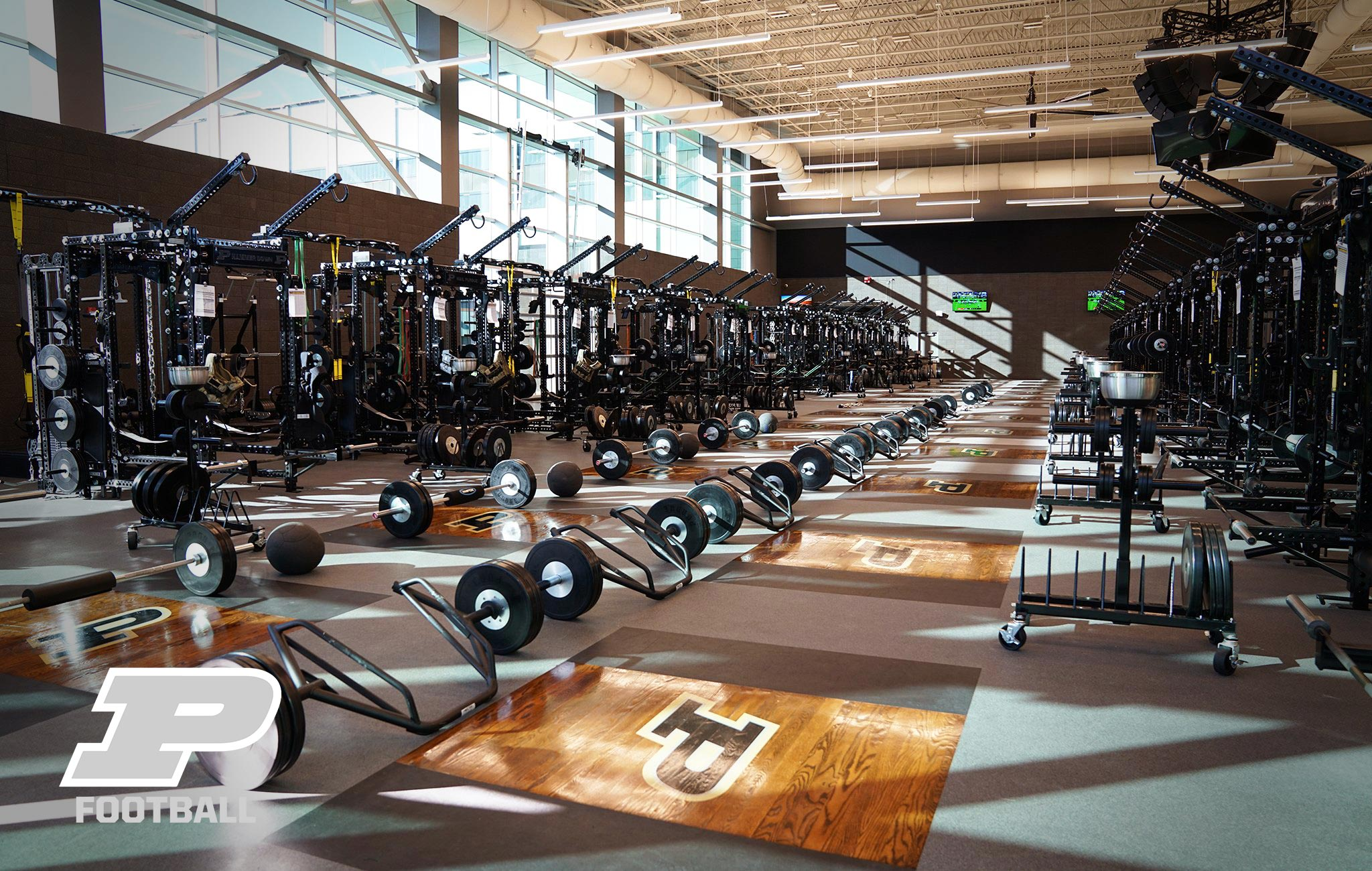 Purdue University Football Sorinex strength and conditioning facility