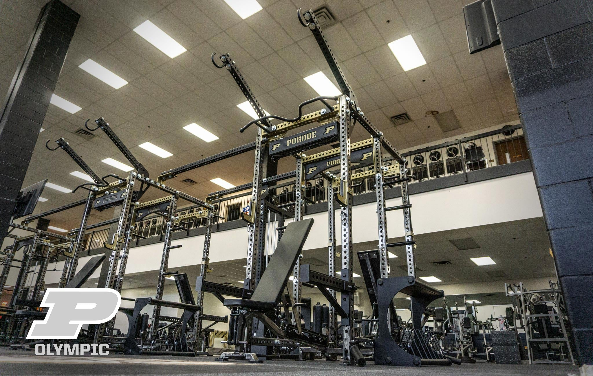 Purdue University Olympic Sorinex strength and conditioning facility