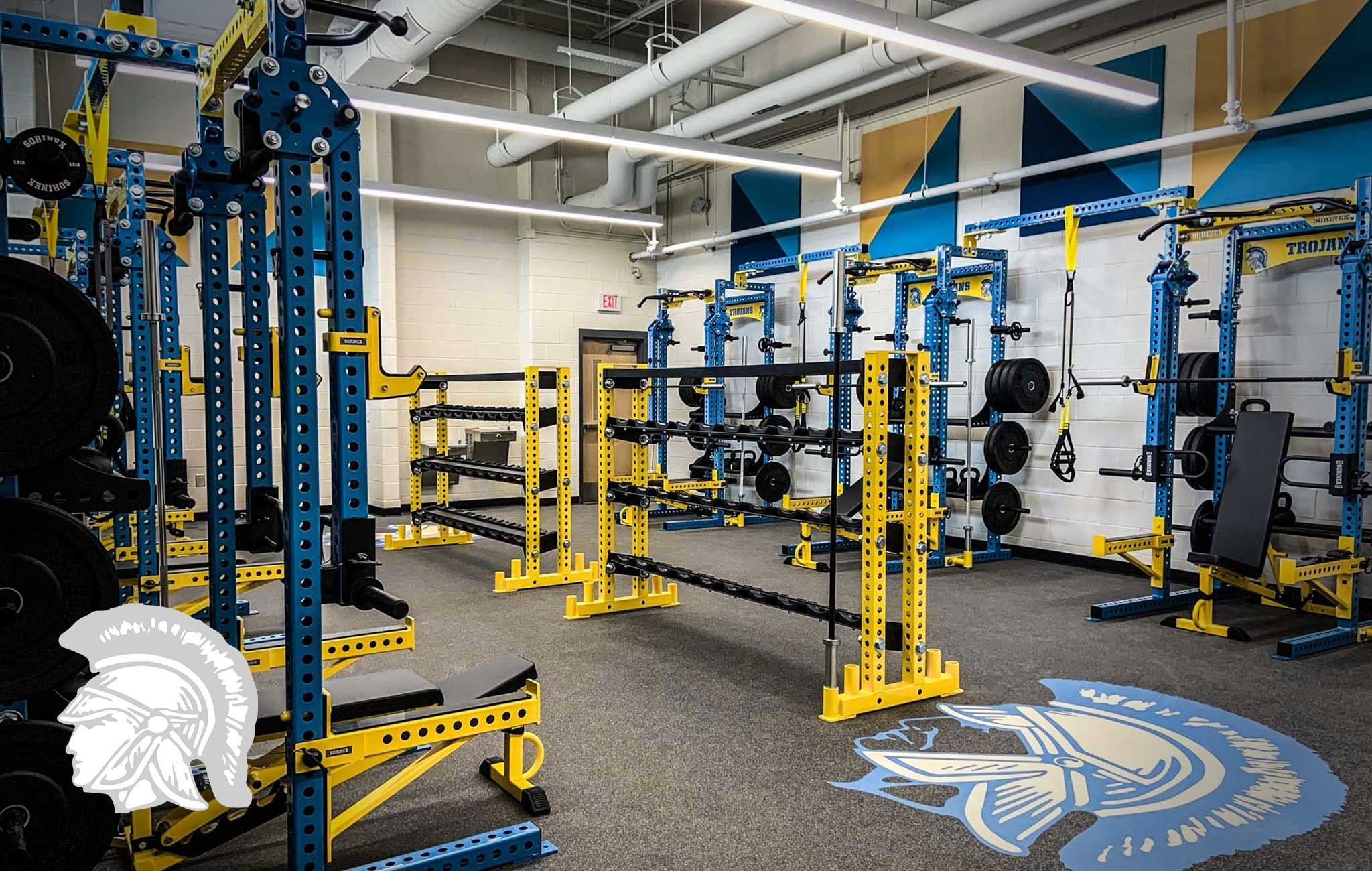 RIDGE SPRING MONETTA HIGH SCHOOL Sorinex strength and conditioning facility
