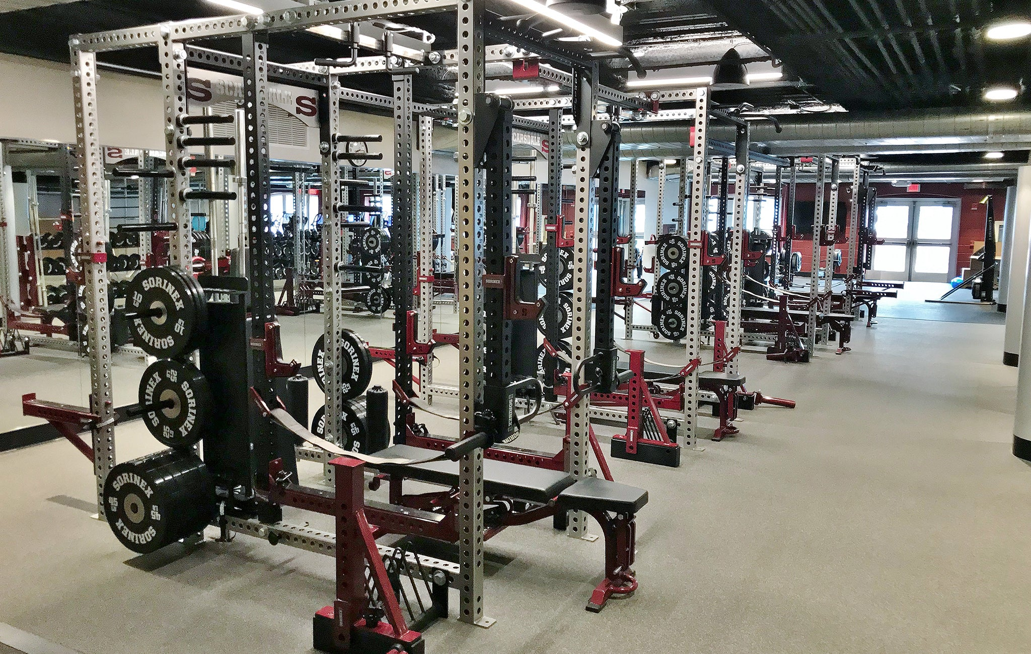 Scarsdale High School weight room