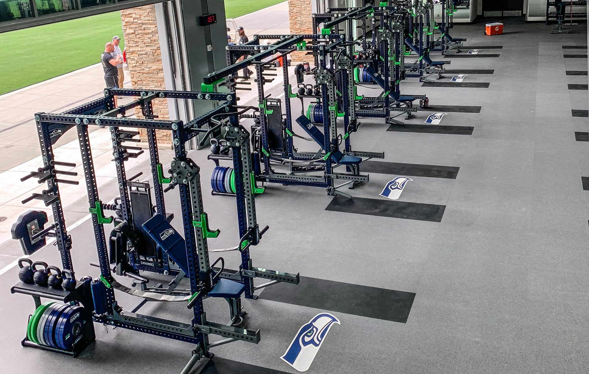 Seattle Seahawks strength training