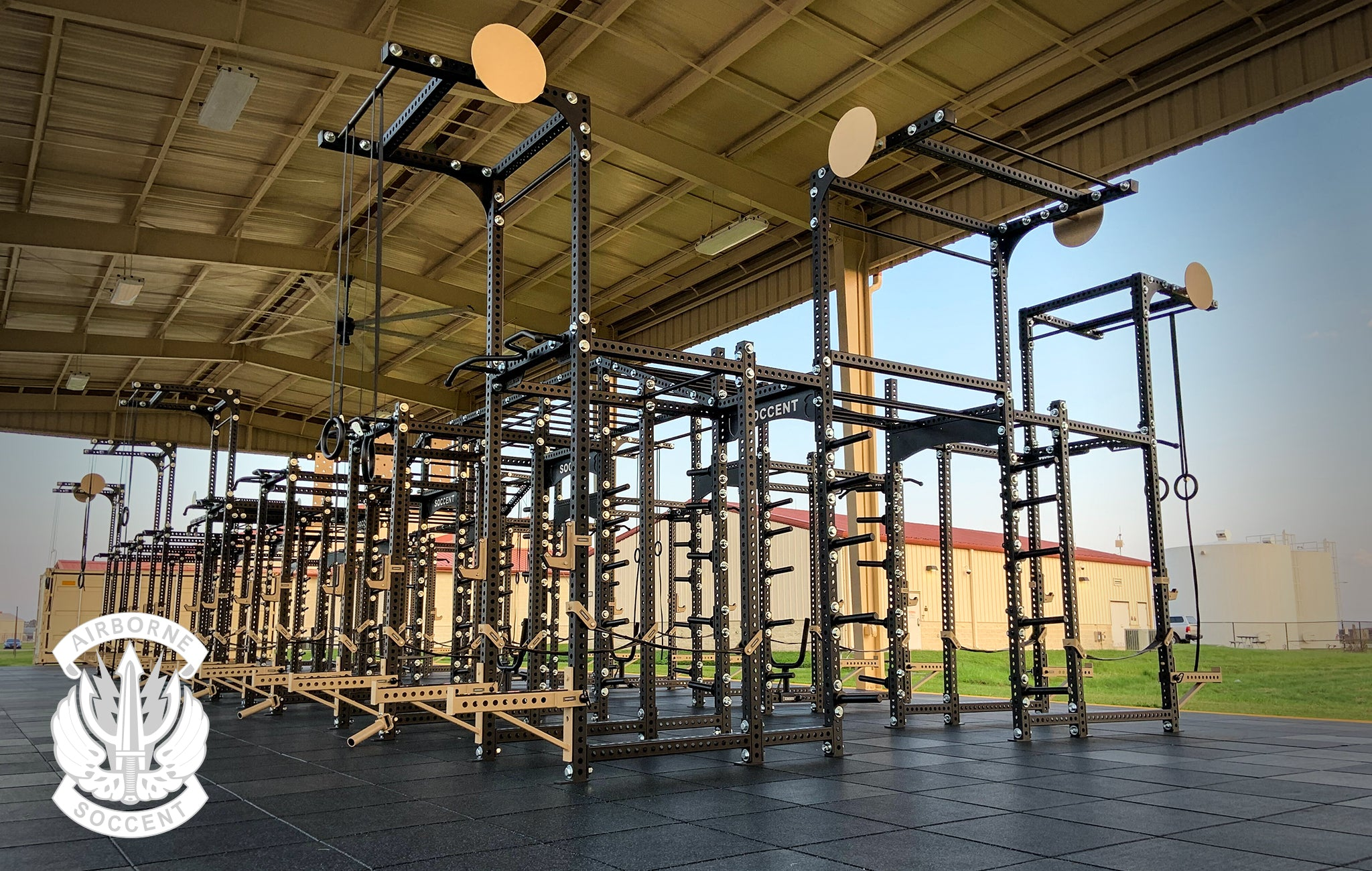 SOCCENT Airborne Sorinex strength and conditioning facility