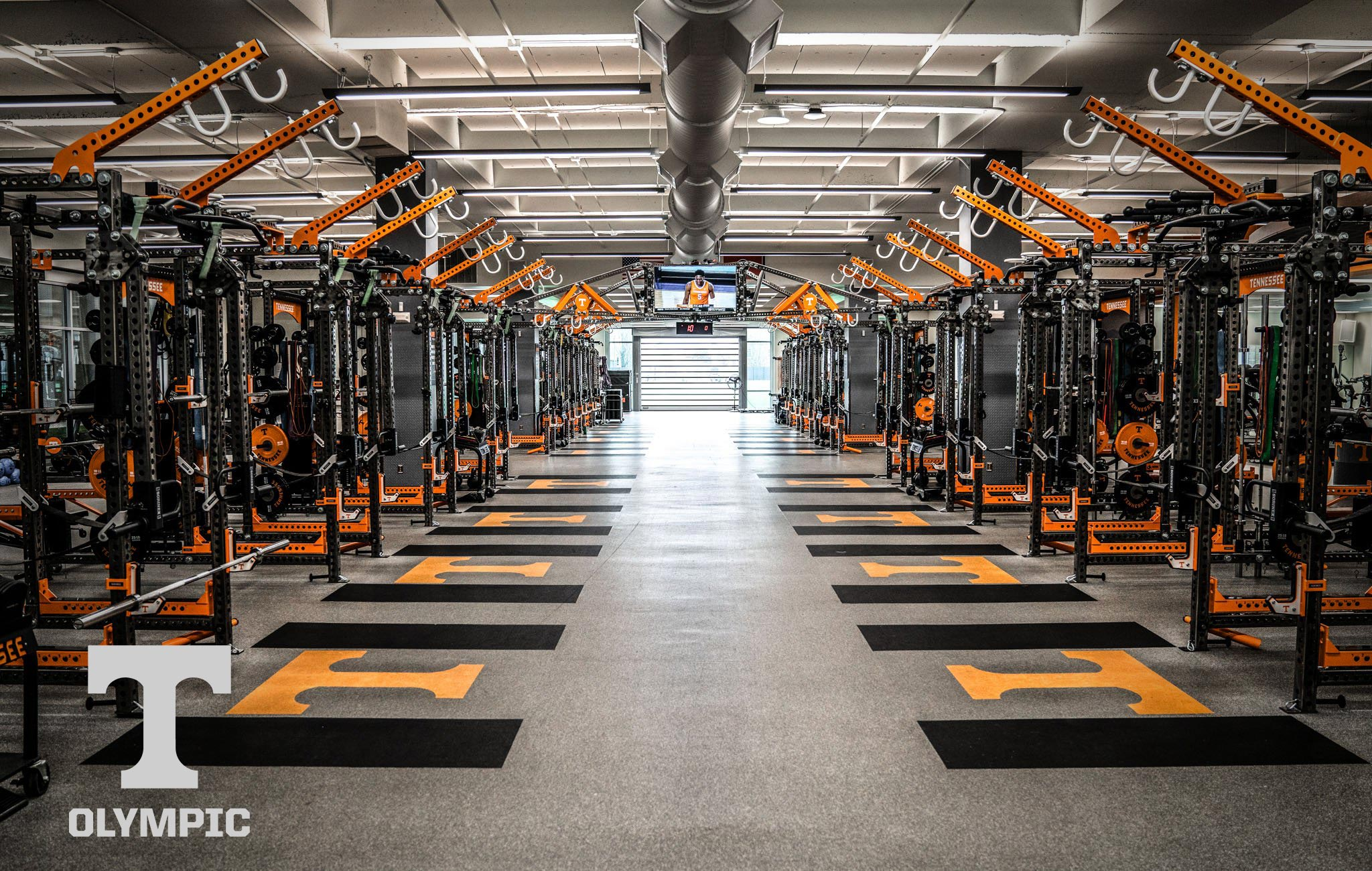 University of Tennessee Olympic Sorinex strength and conditioning facility
