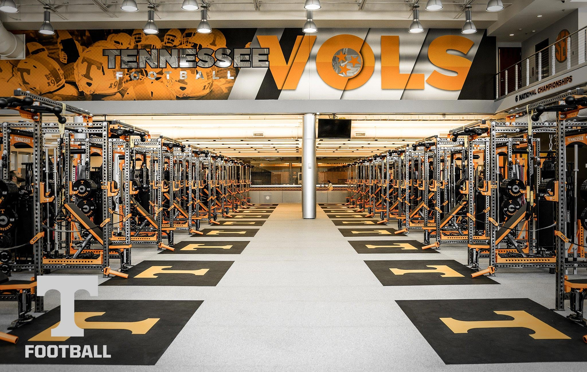 University of Tennessee Football Sorinex strength and conditioning facility