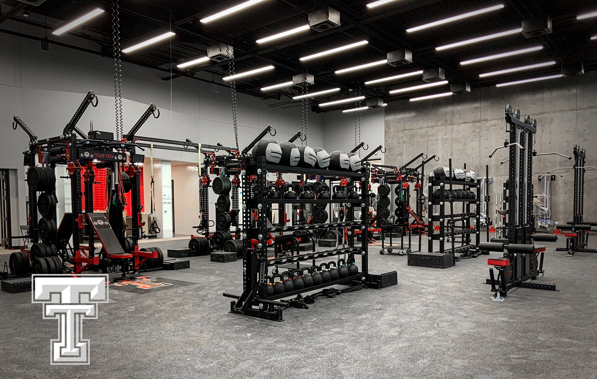 Texas Tech University Sorinex strength and conditioning facility
