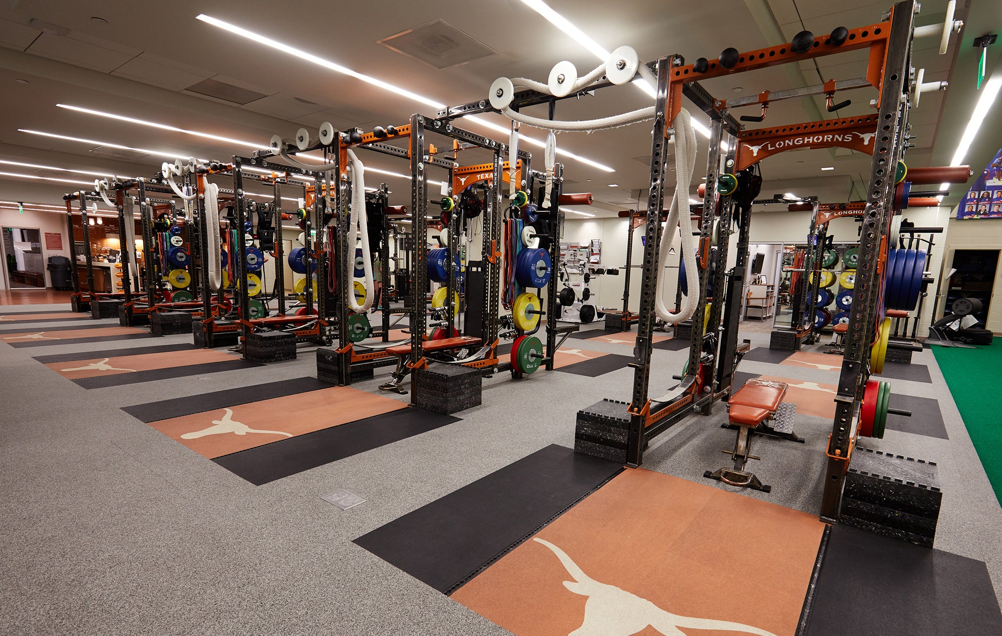University of Texas Olympic Weight room