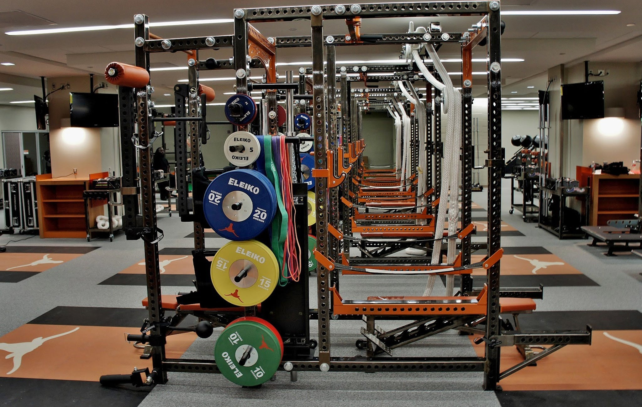 Texas Longhorns weight room
