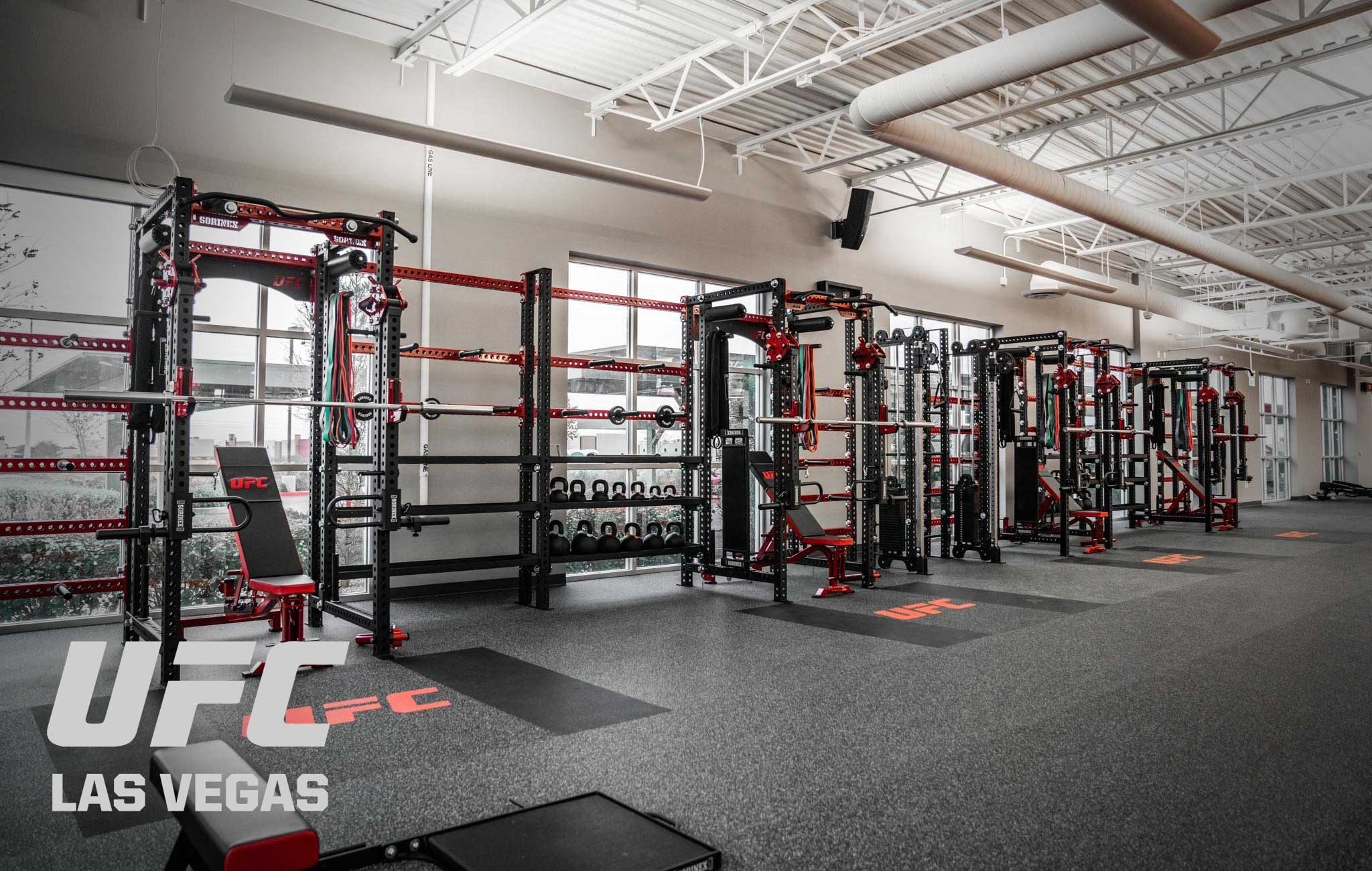 UFC Las Vegas Sorinex strength and conditioning facility