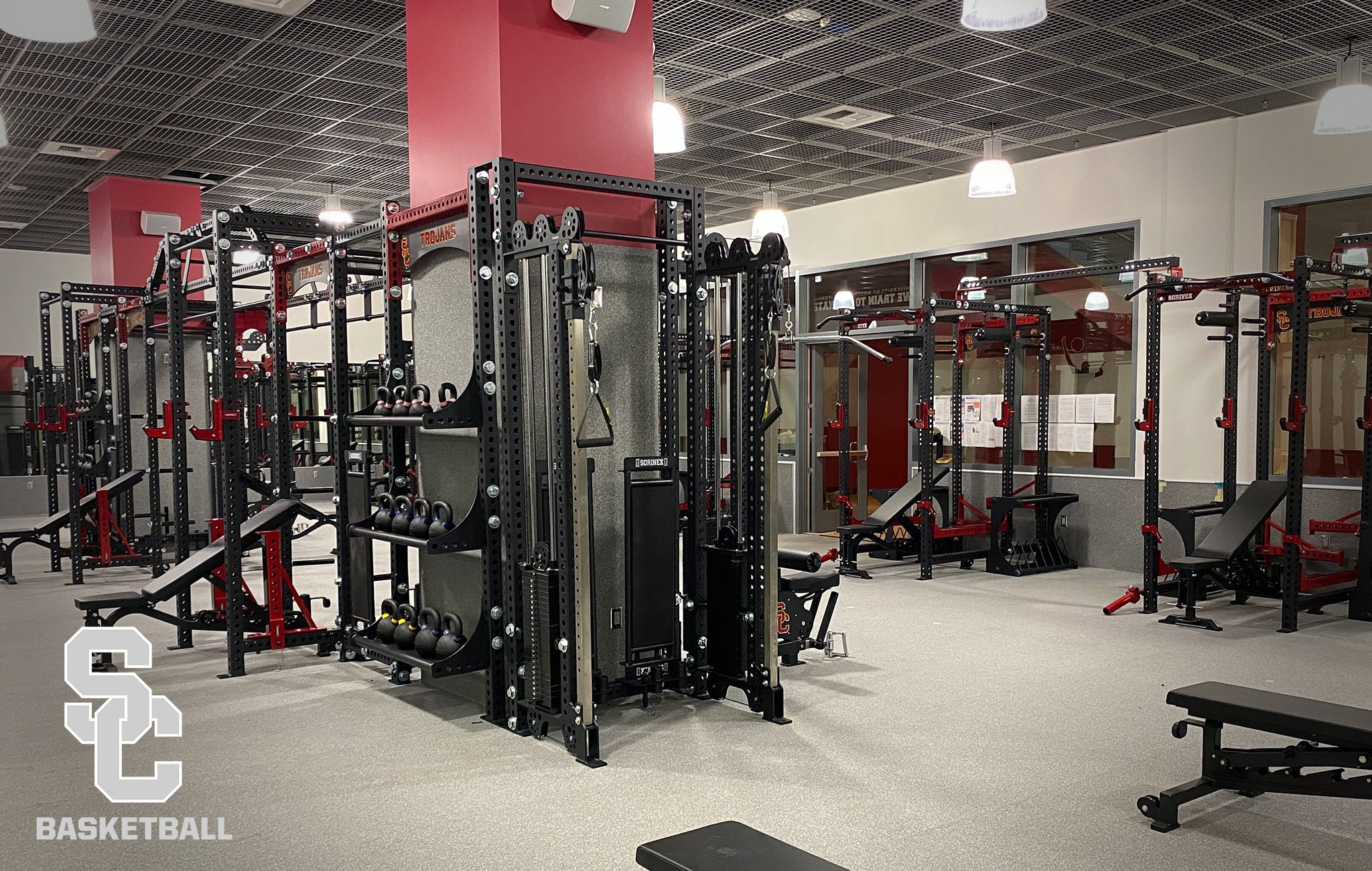 University of Southern California Sorinex strength and conditioning facility
