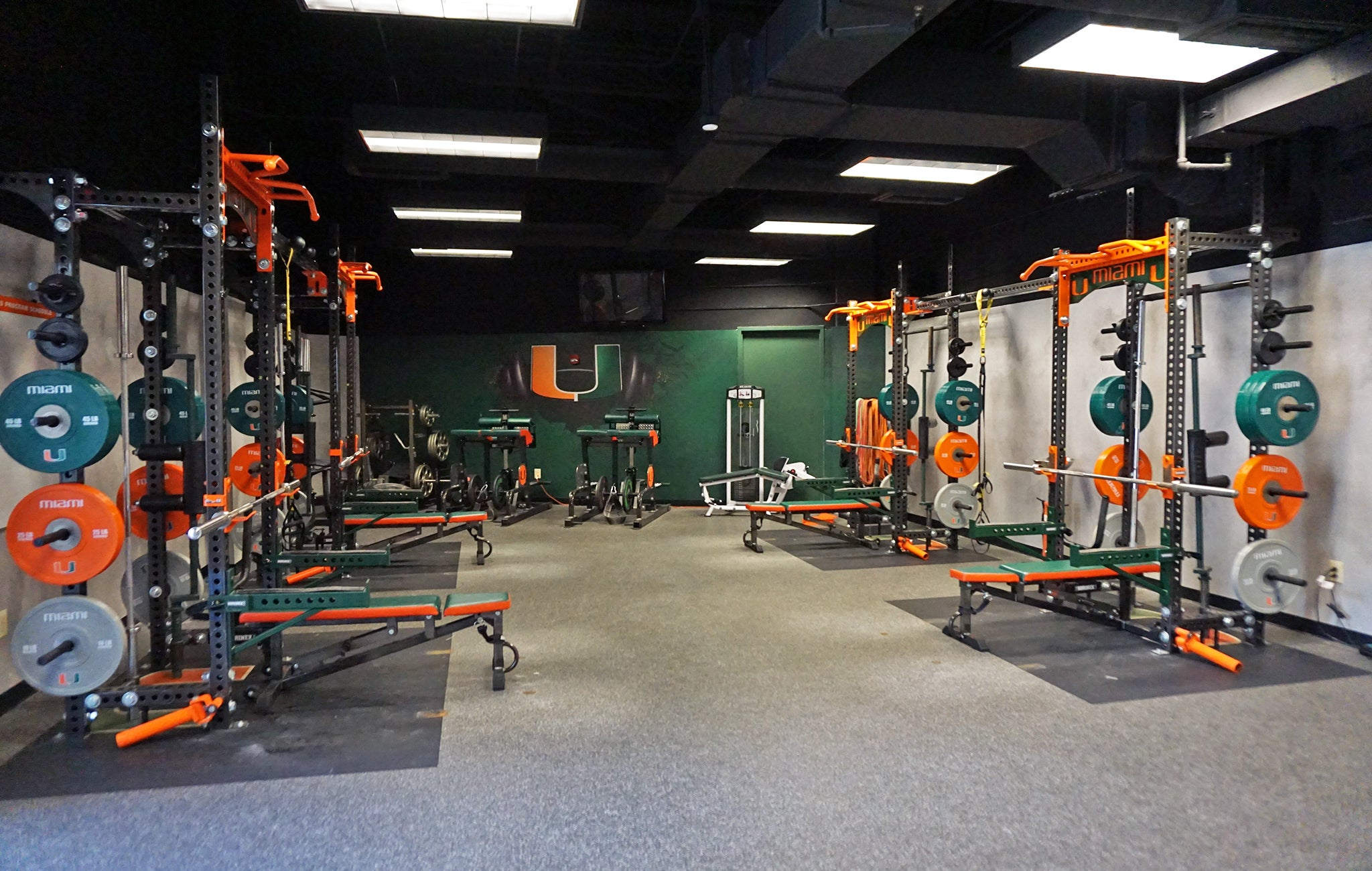 University of Miami basketball Weight Room