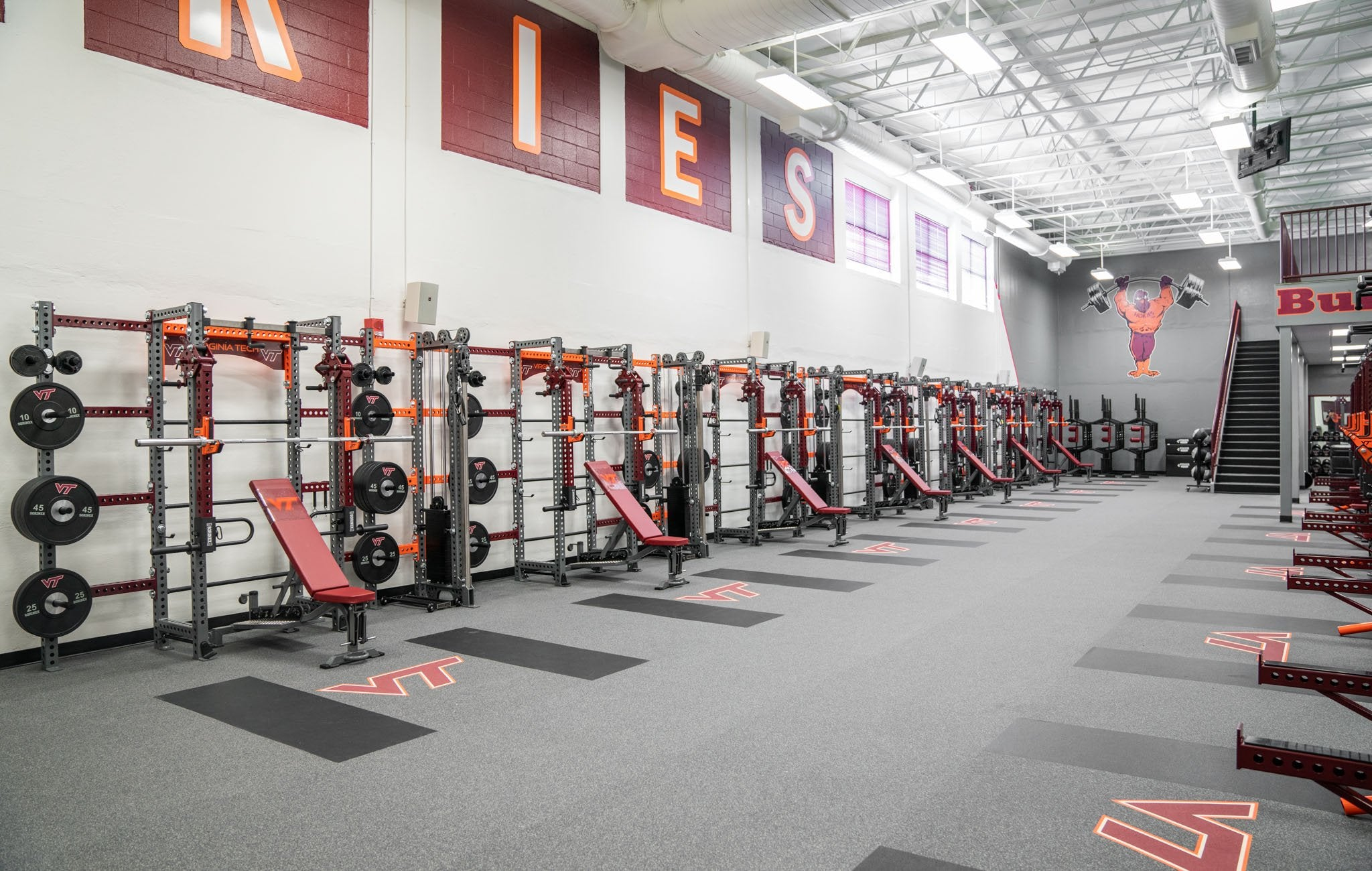 Virginia Tech Apex Rack Wall