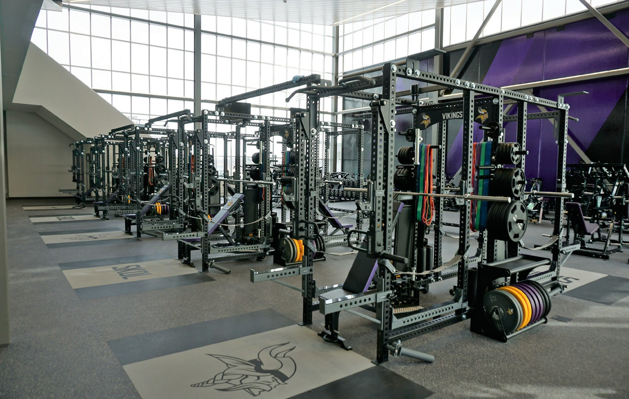 Minnesota Vikings weight room