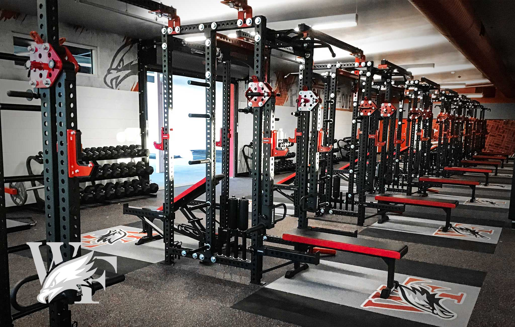 WILLIAM FIELD HIGH SCHOOL Sorinex strength and conditioning facility