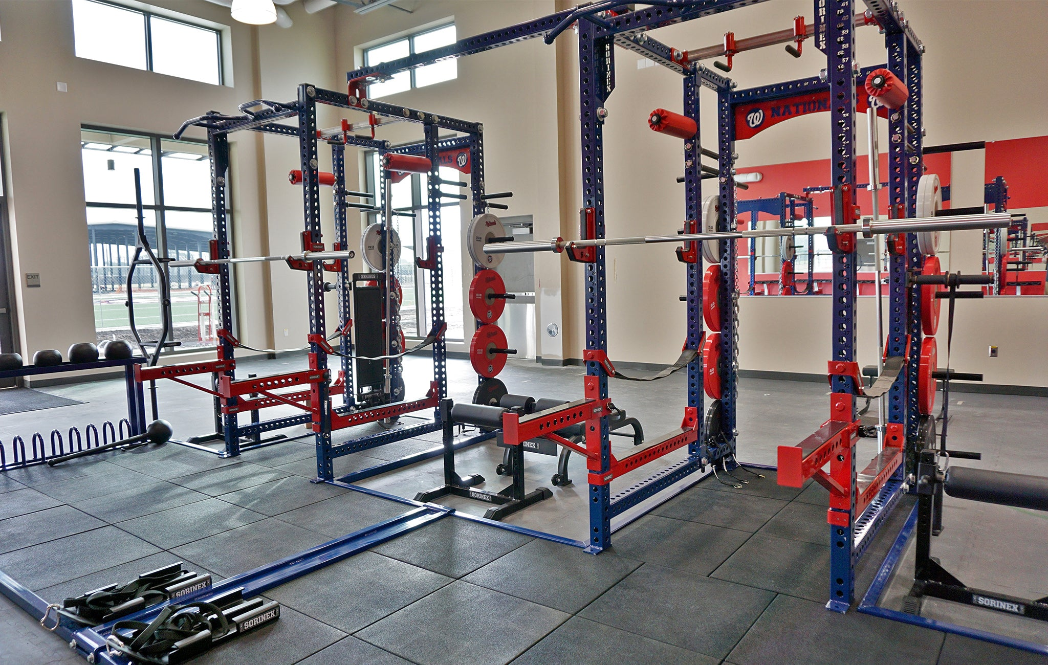 Professional baseball weight rooms