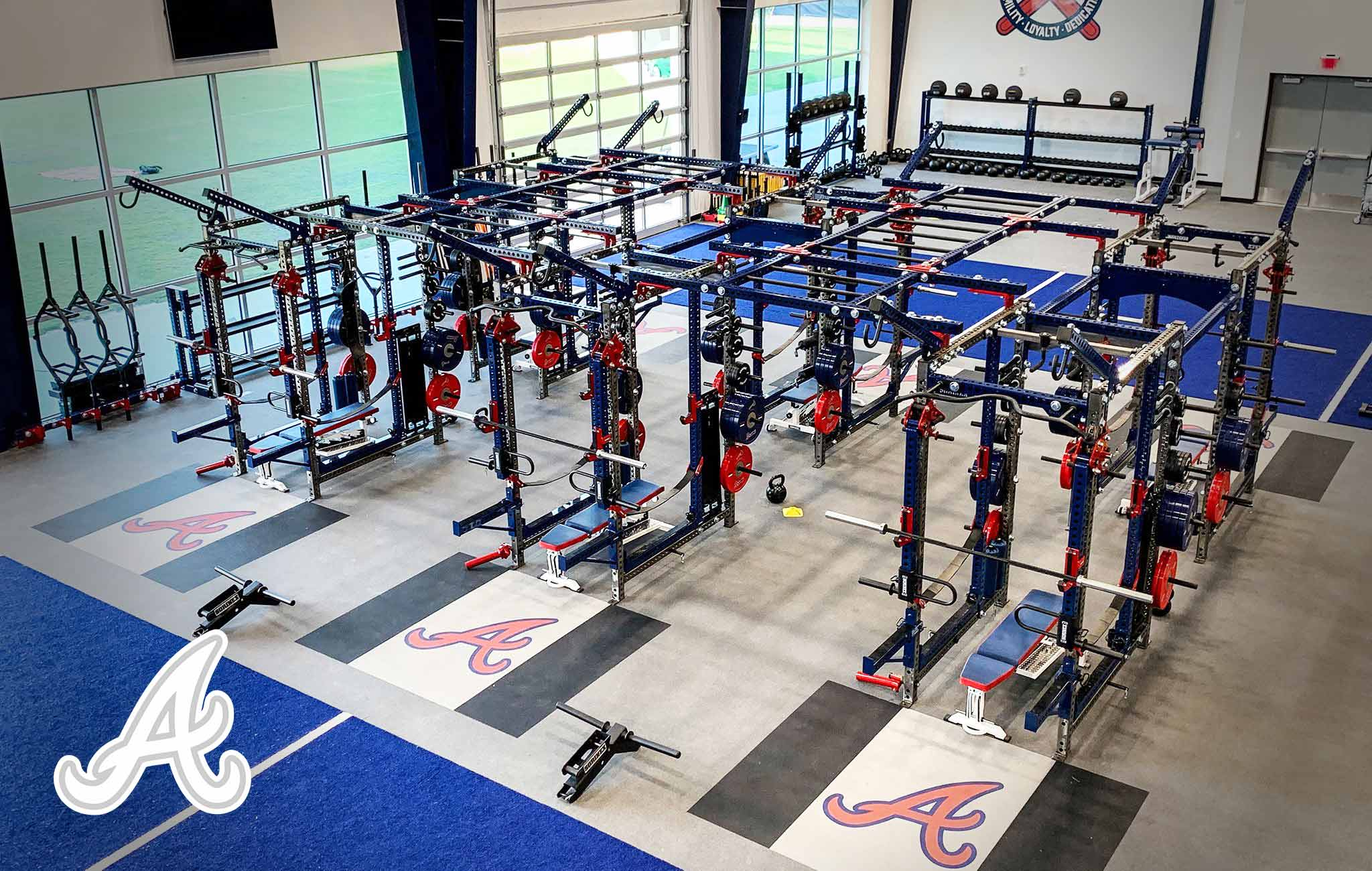 Atlanta Braves Sorinex strength and conditioning facility