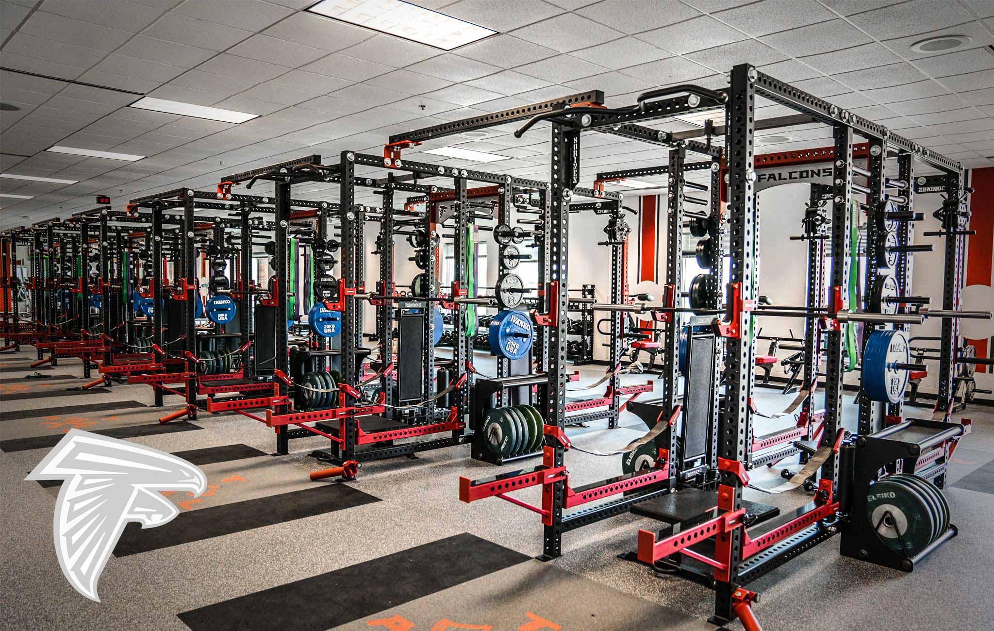 Atlanta Falcons Sorinex strength and conditioning facility