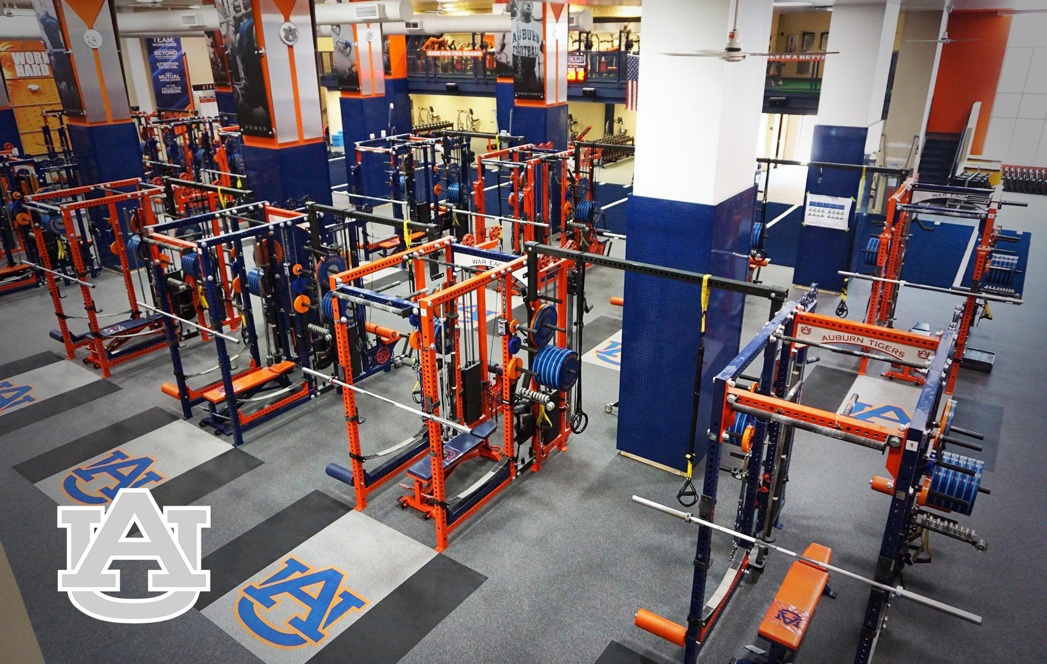 Auburn University Sorinex strength and conditioning facility