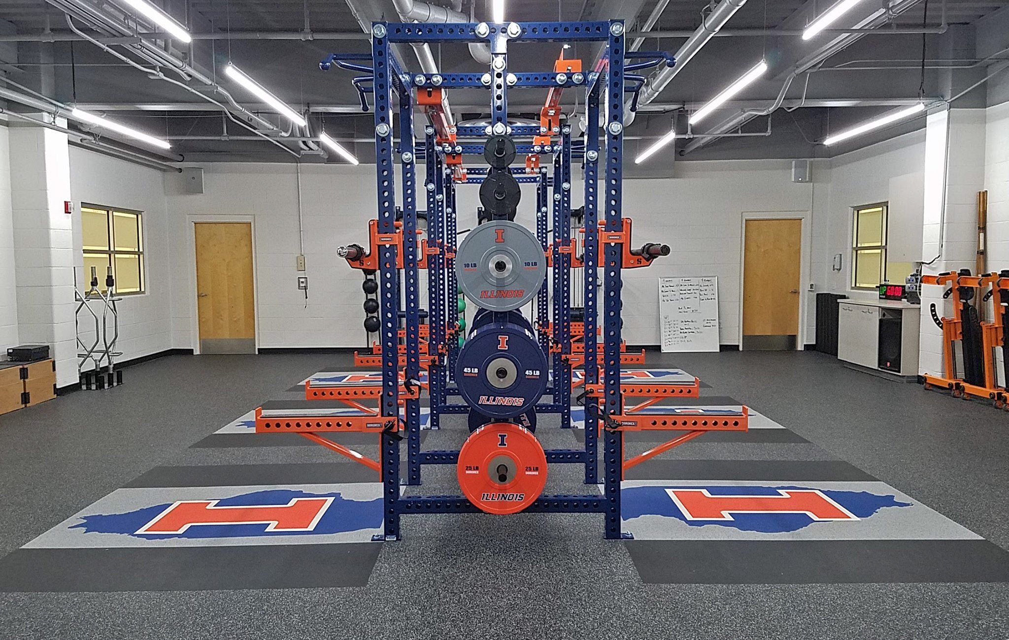 University of Illinois Base Camp Double Half Racks