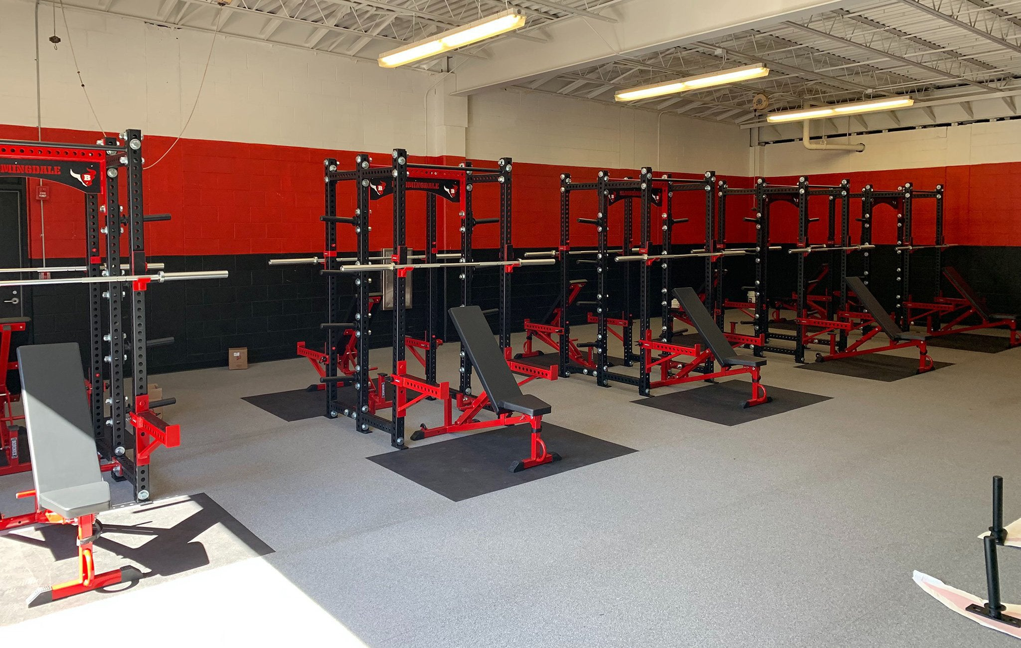 Bloomingdale High School Base Camp Double Half Racks