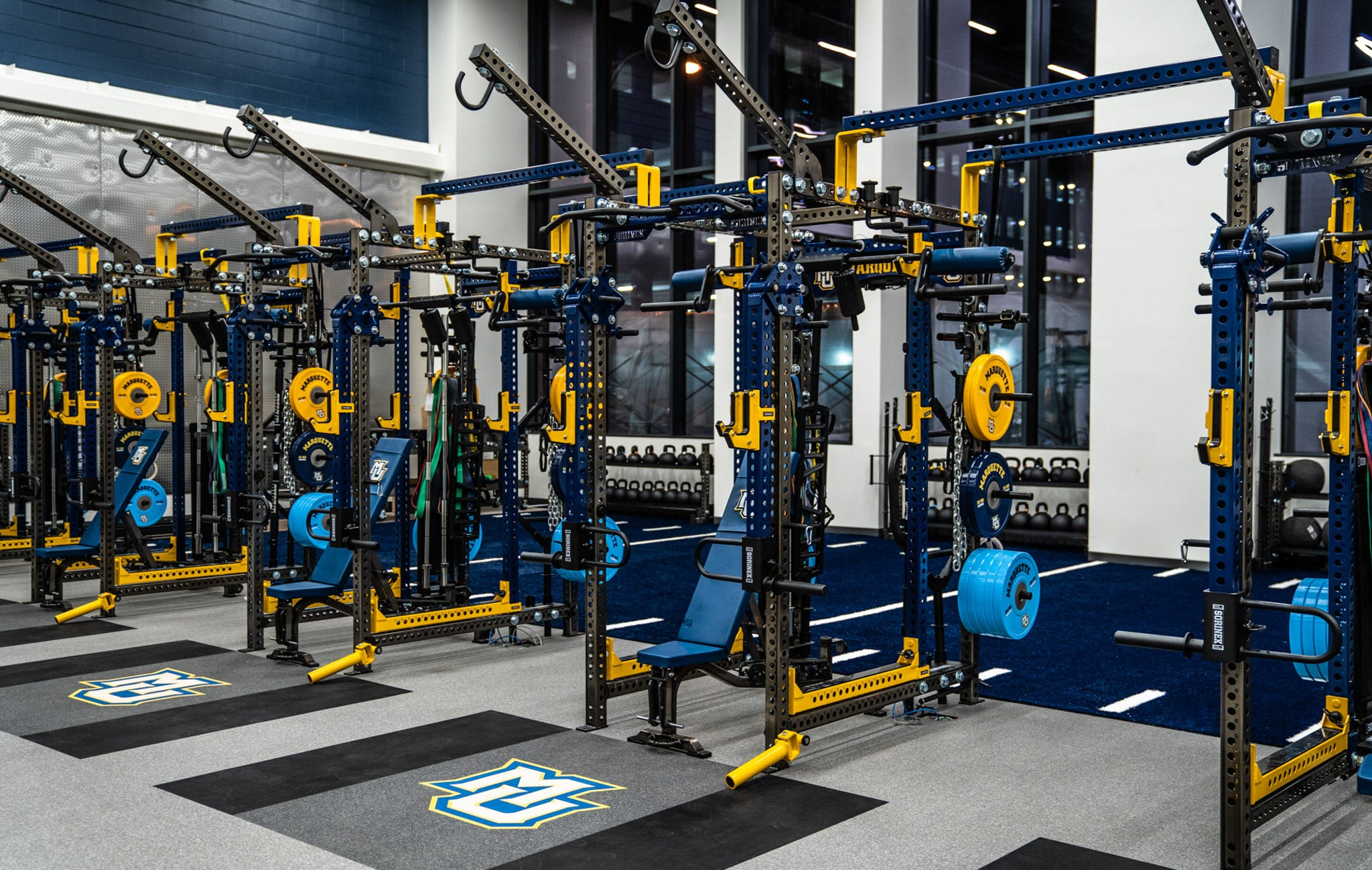 Marquette University Base Camp Power Racks