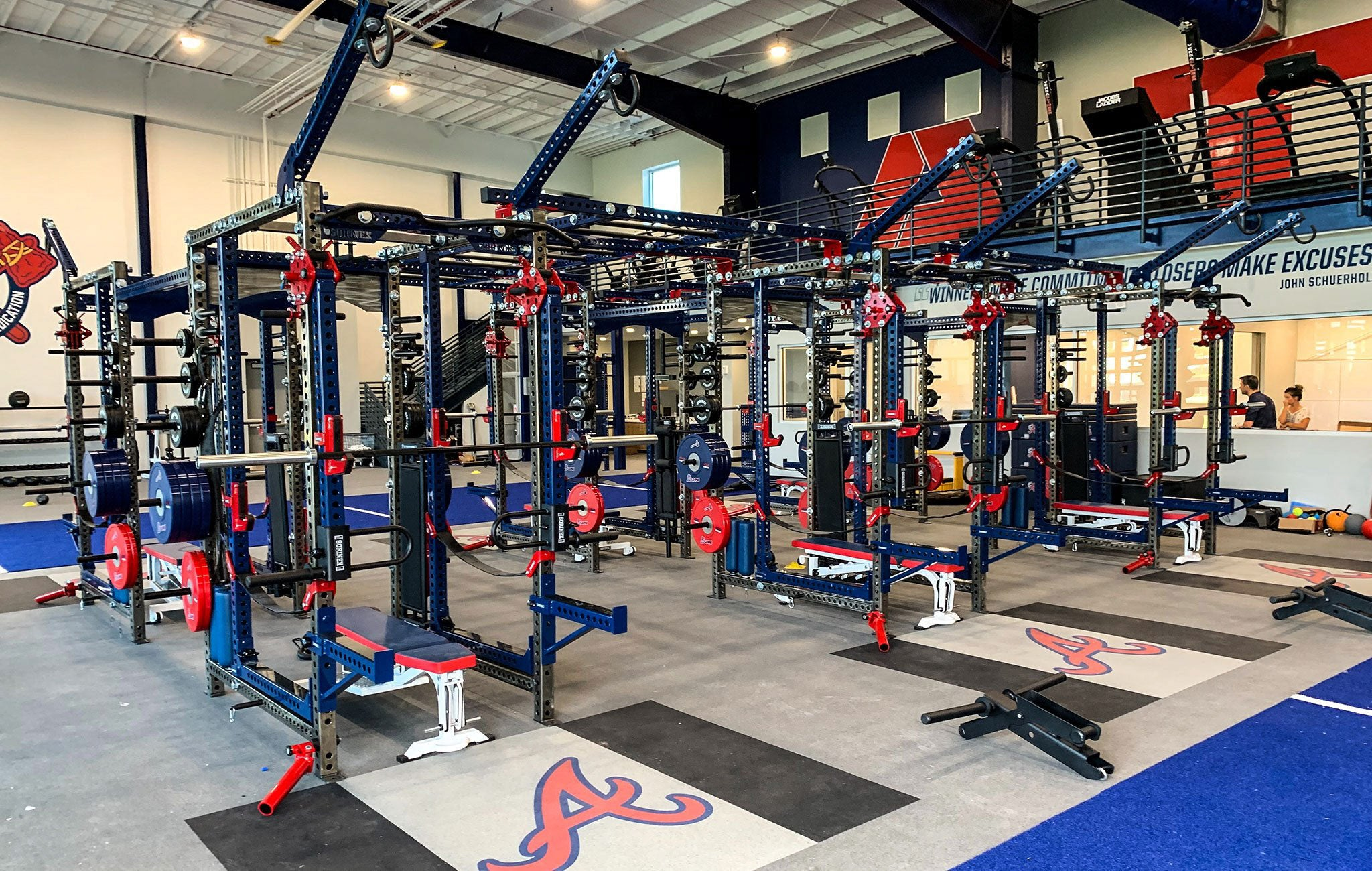Atlanta Braves Base Camp Power Racks