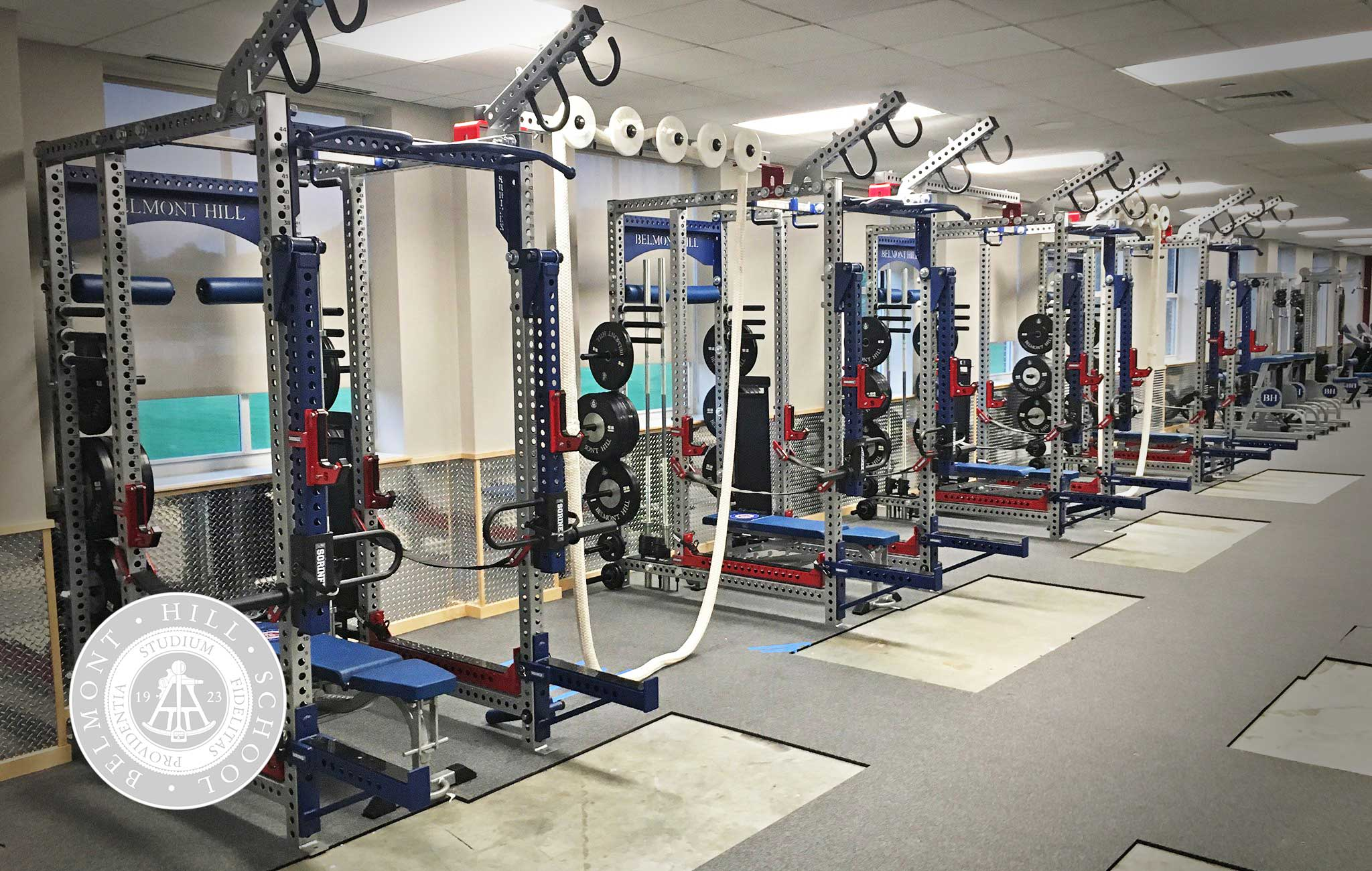 Belmont Hill high school Sorinex strength and conditioning facility
