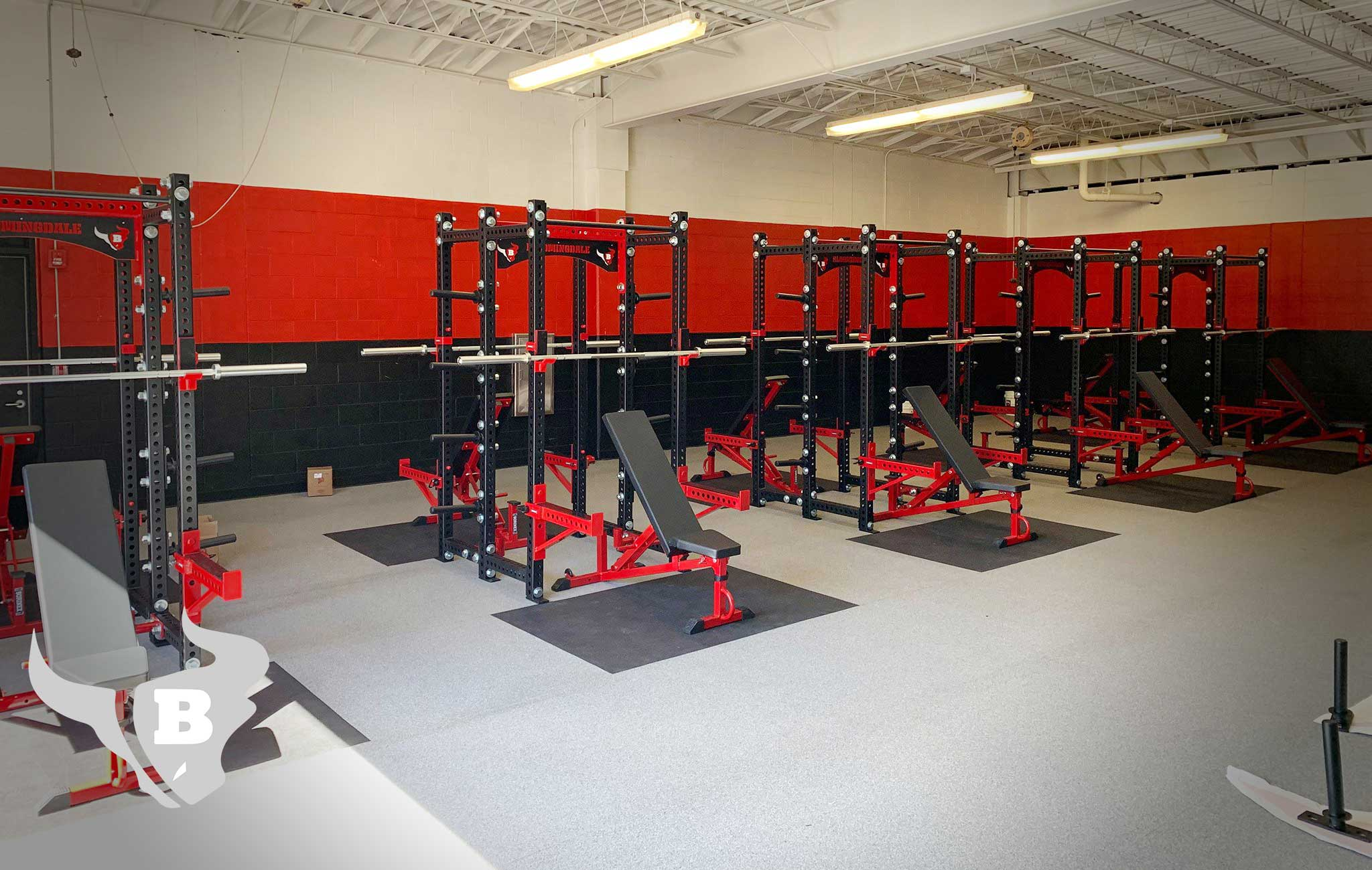 Bloomingdale High School Sorinex strength and conditioning facility