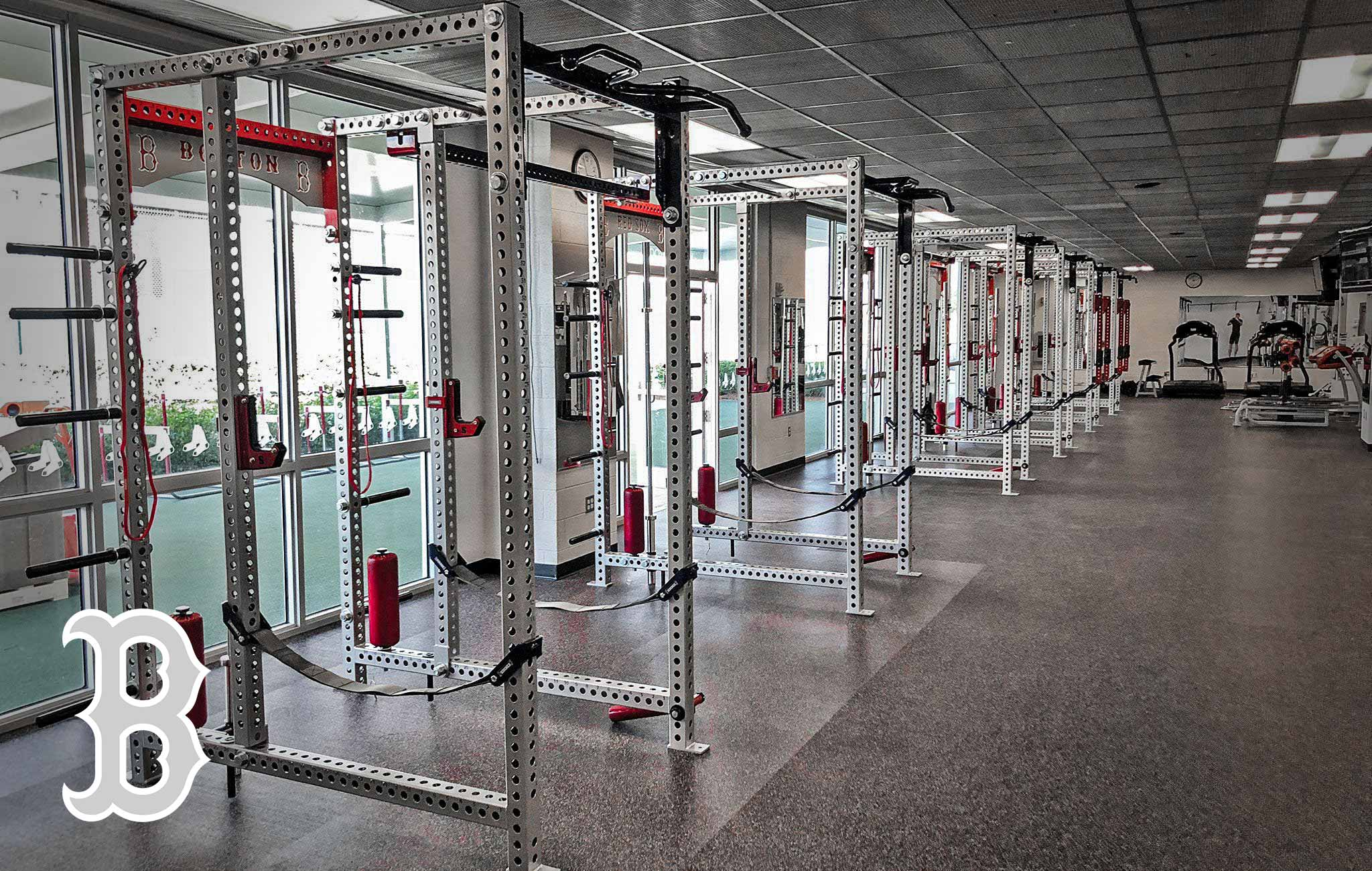 Boston Red Sox Sorinex strength and conditioning facility