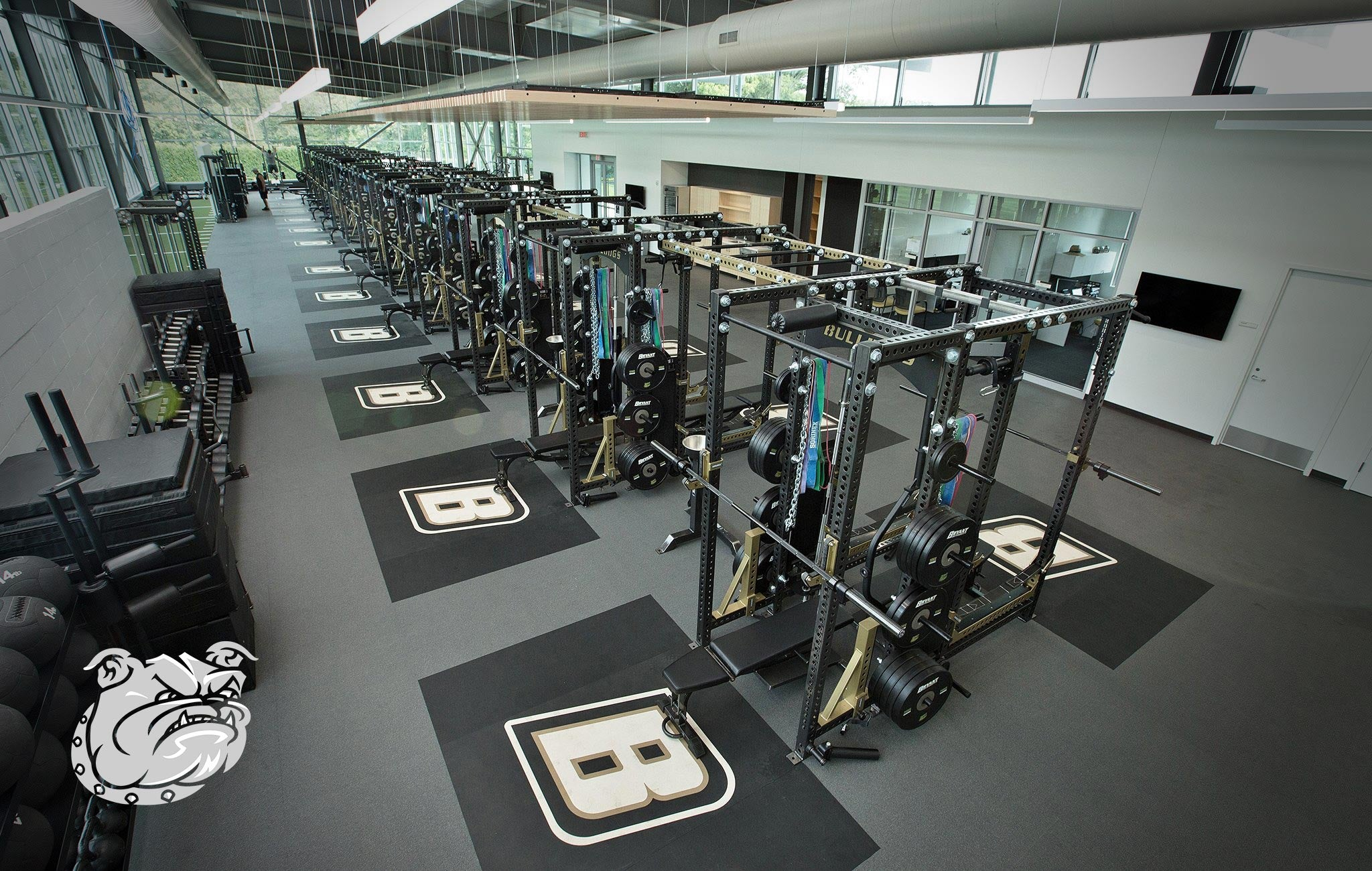 Bryant University Sorinex strength and conditioning facility