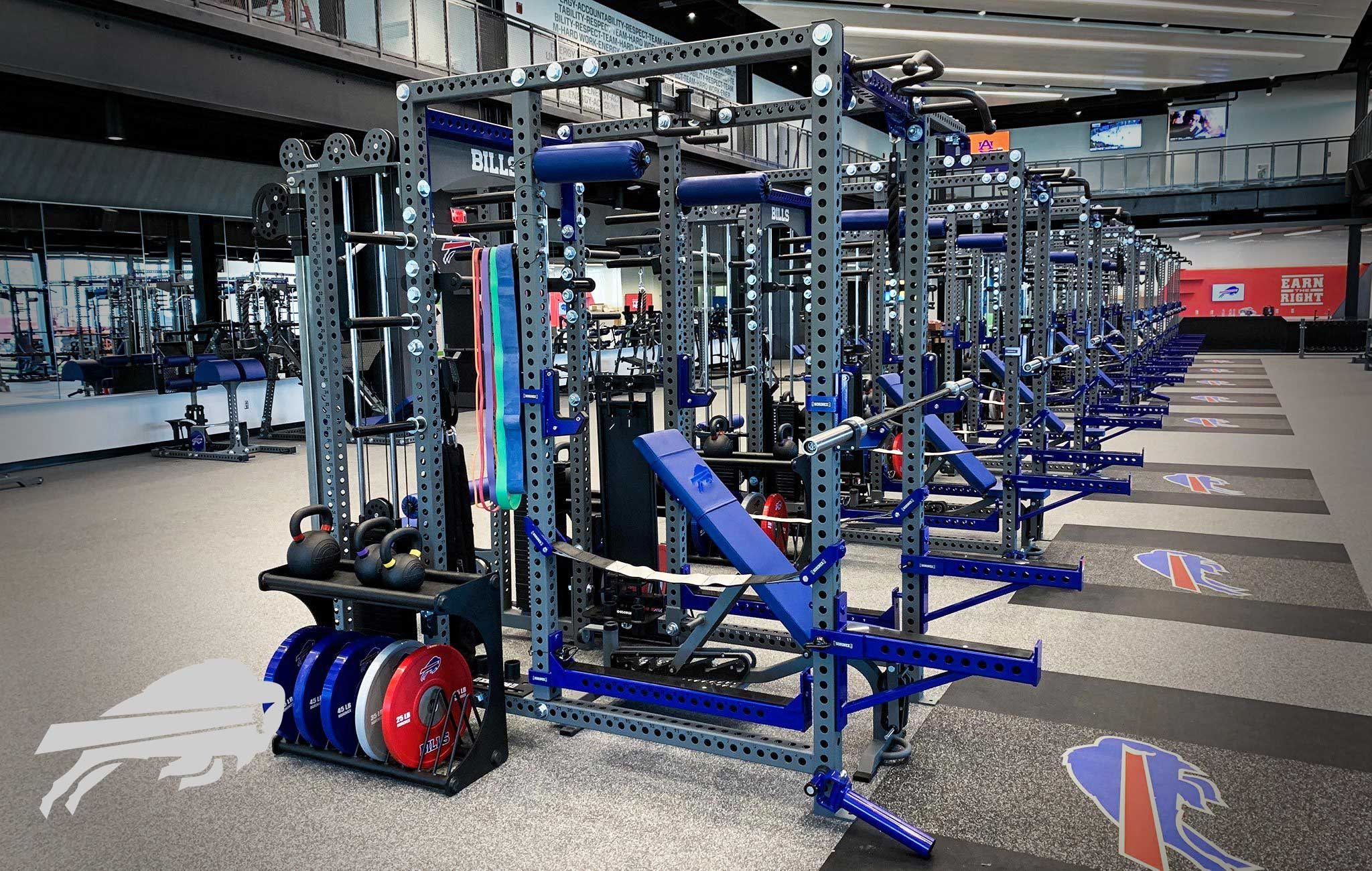 Buffalo Bills Sorinex strength and conditioning facility