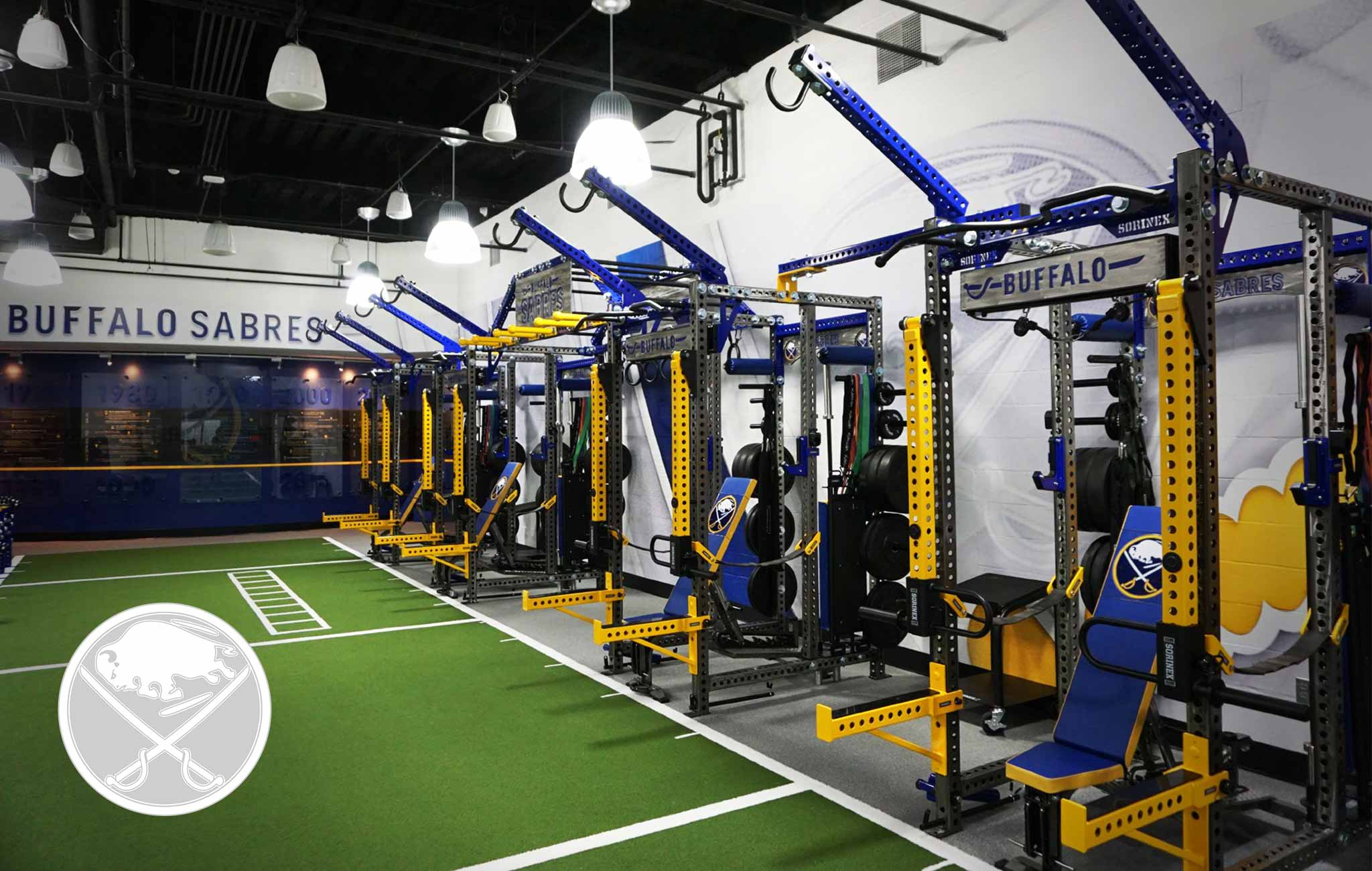 Buffalo Sabres Sorinex strength and conditioning facility