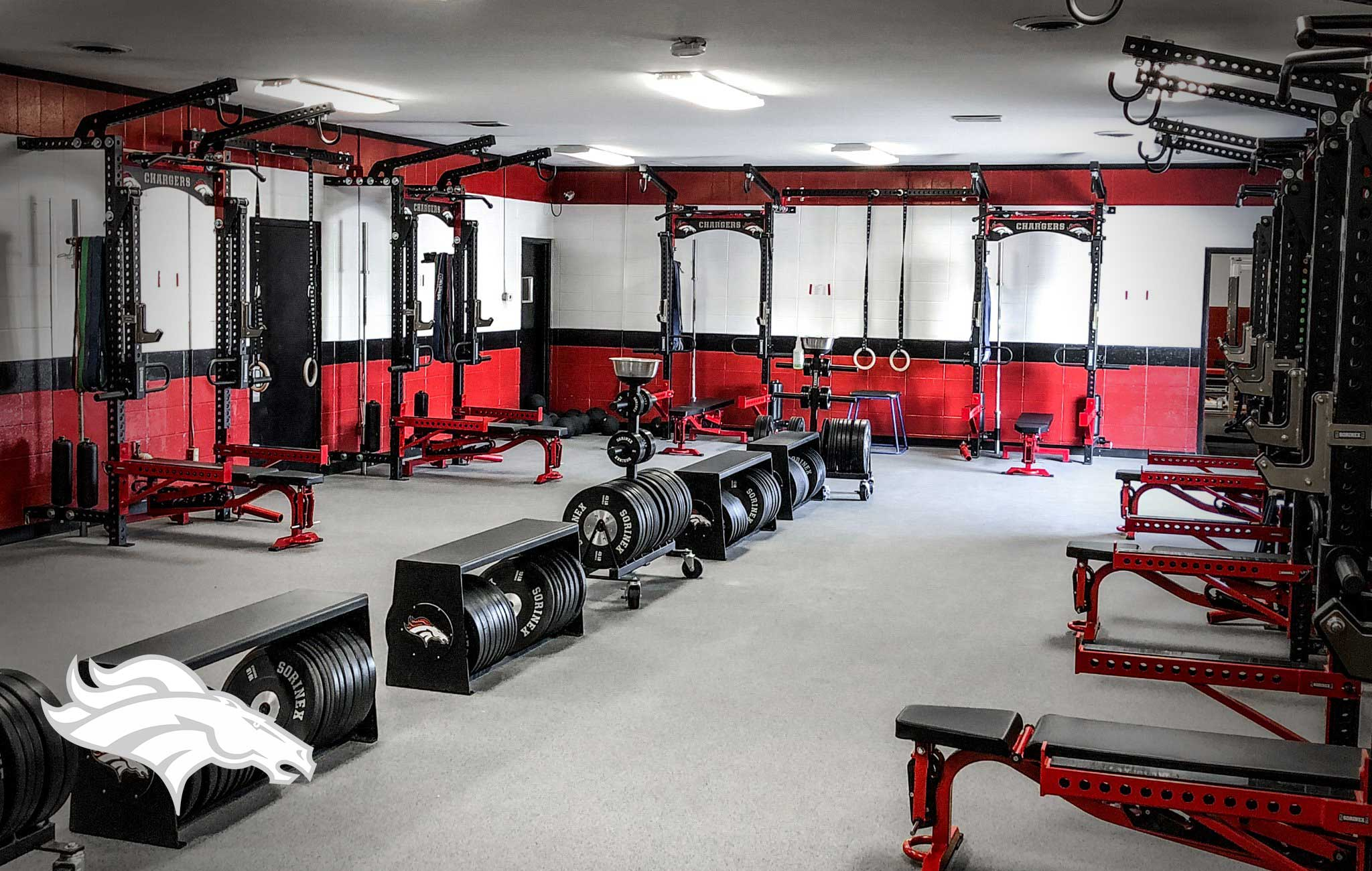 Builtt East high school Sorinex strength and conditioning facility