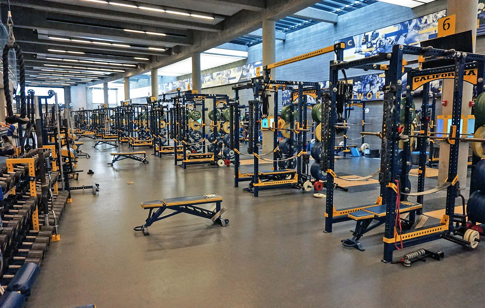 University of California Football Weight Room